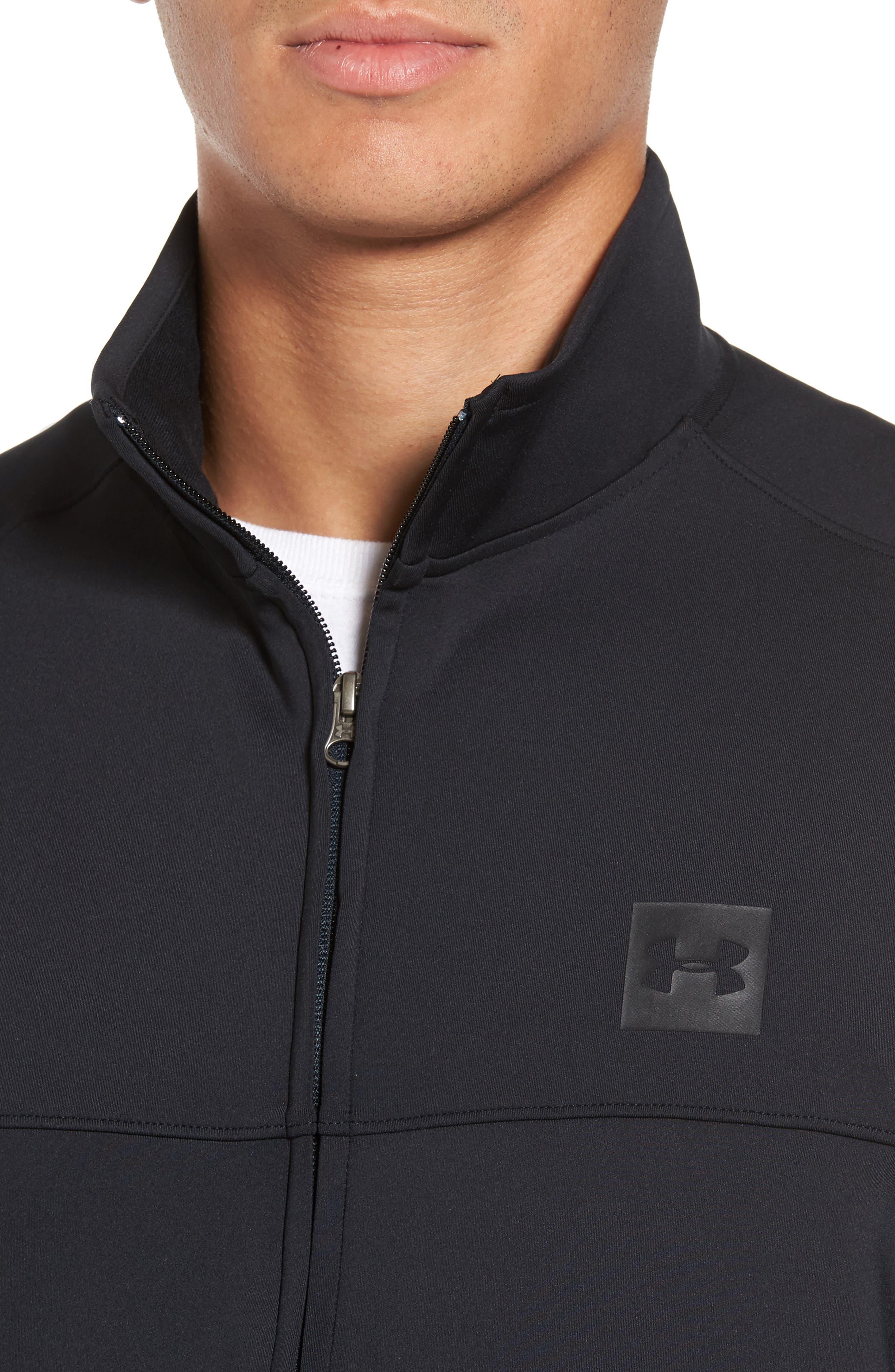 Sportstyle Track Jacket,                             Alternate thumbnail 4, color,                             Black / / Black