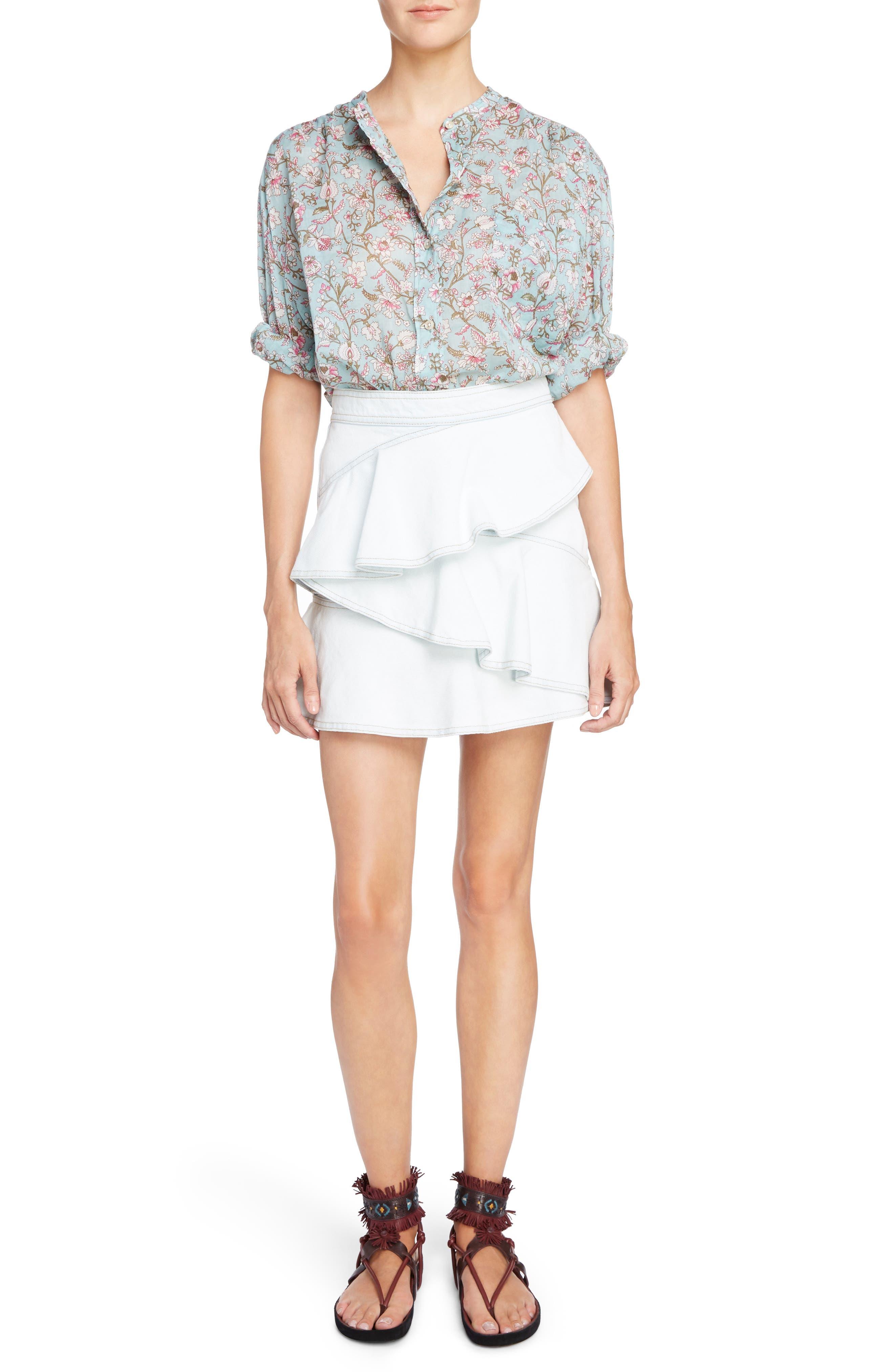 Alternate Image 6  - Isabel Marant Étoile Coati Ruffle Denim Skirt