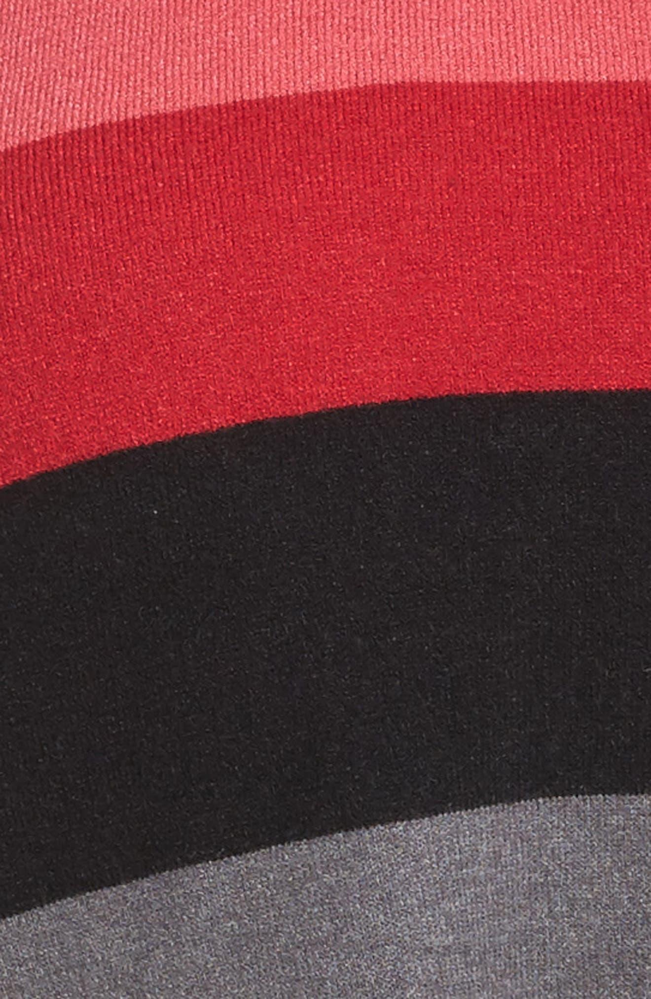 V-Neck Drop Shoulder Pullover,                             Alternate thumbnail 5, color,                             Red Multi Pop Stripe