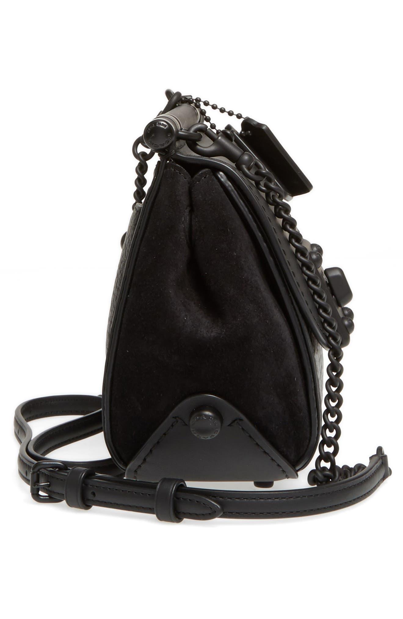 Alternate Image 4  - COACH Mixed Leather Crossbody Bag