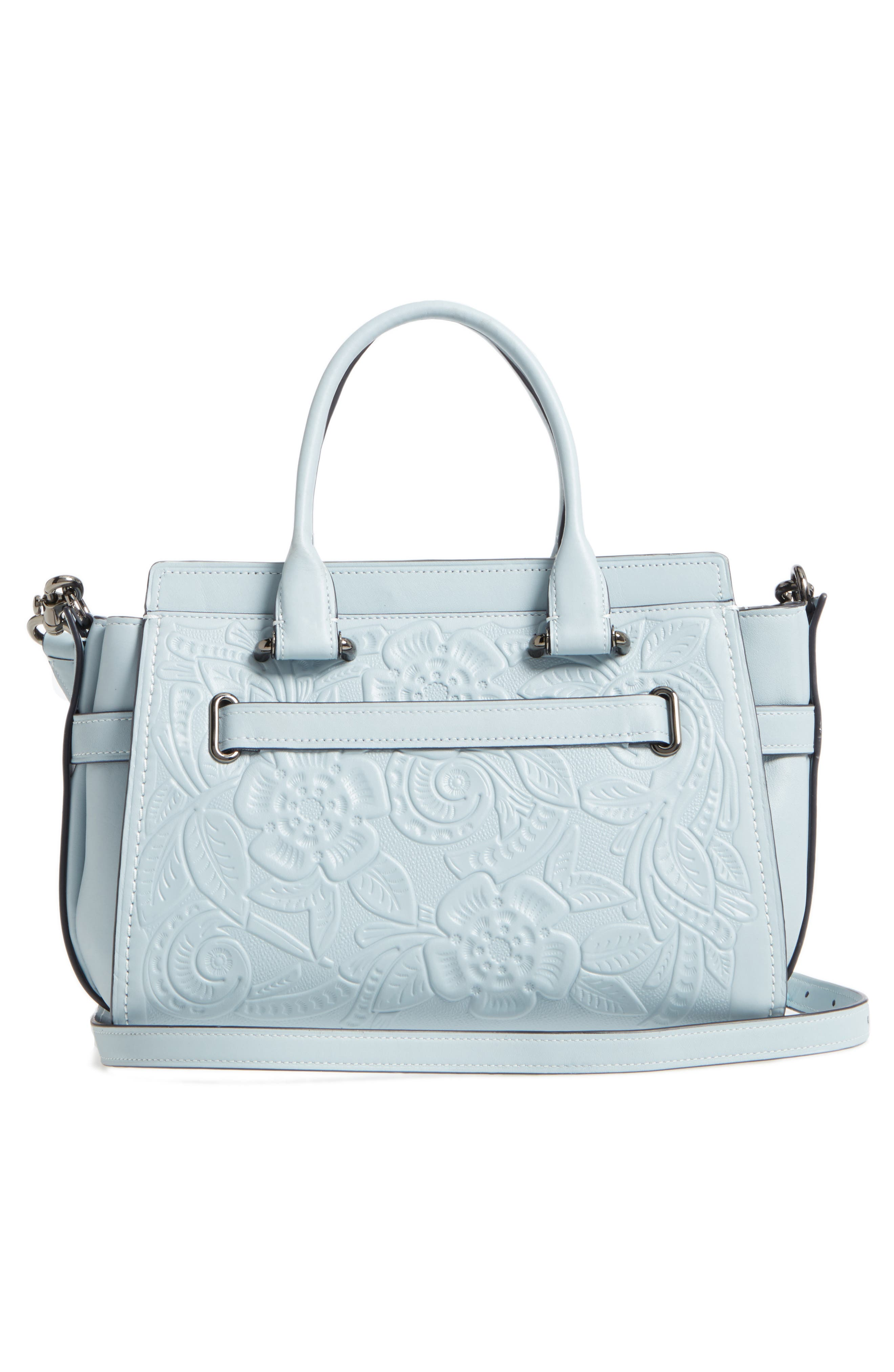 Alternate Image 2  - COACH Tea Rose Swagger 27 Calfskin Leather Satchel