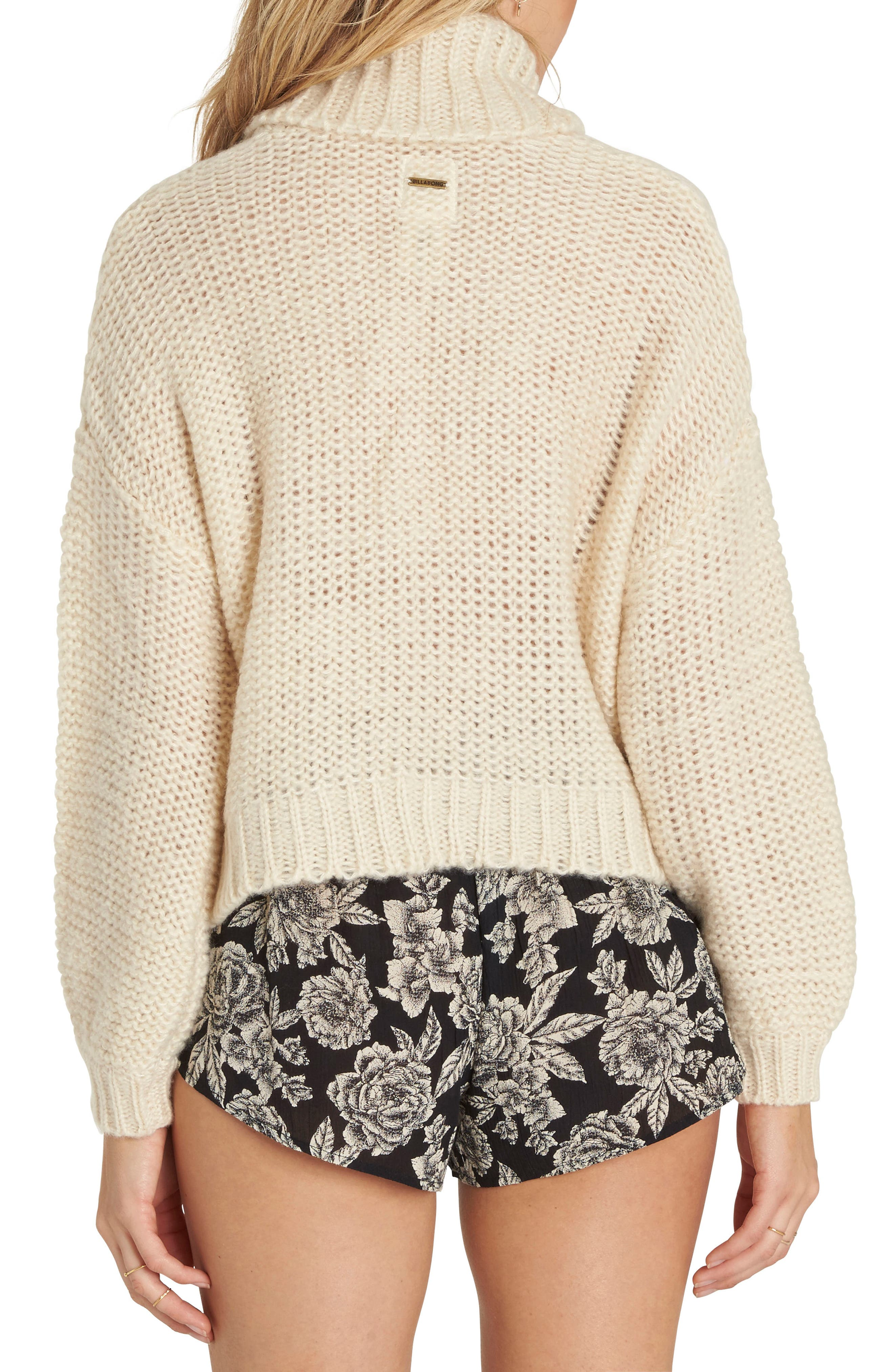 Alternate Image 2  - Billabong Stay Here Turtleneck Sweater