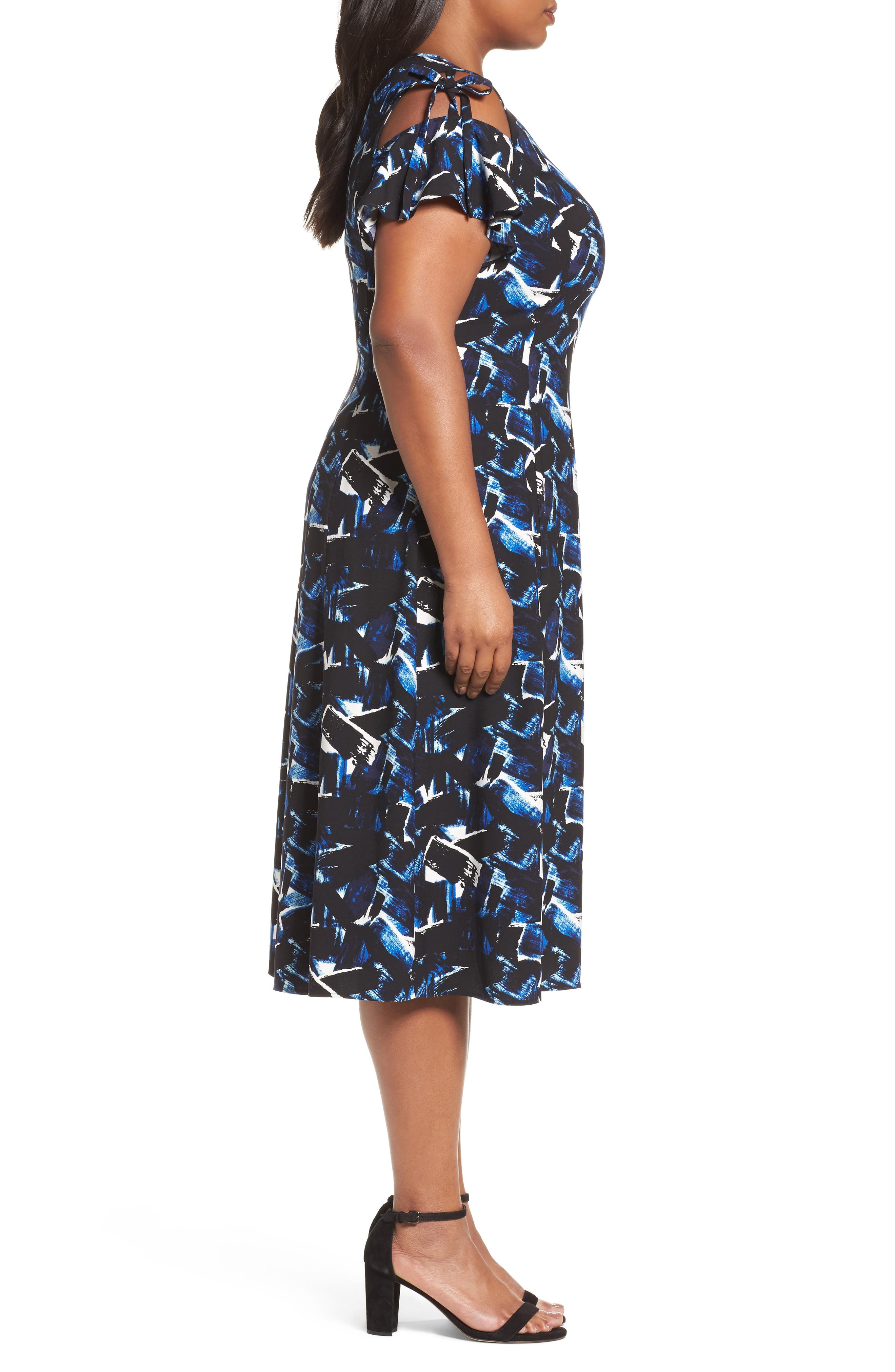 Alternate Image 3  - Sejour Cold Shoulder A-Line Dress (Plus Size)