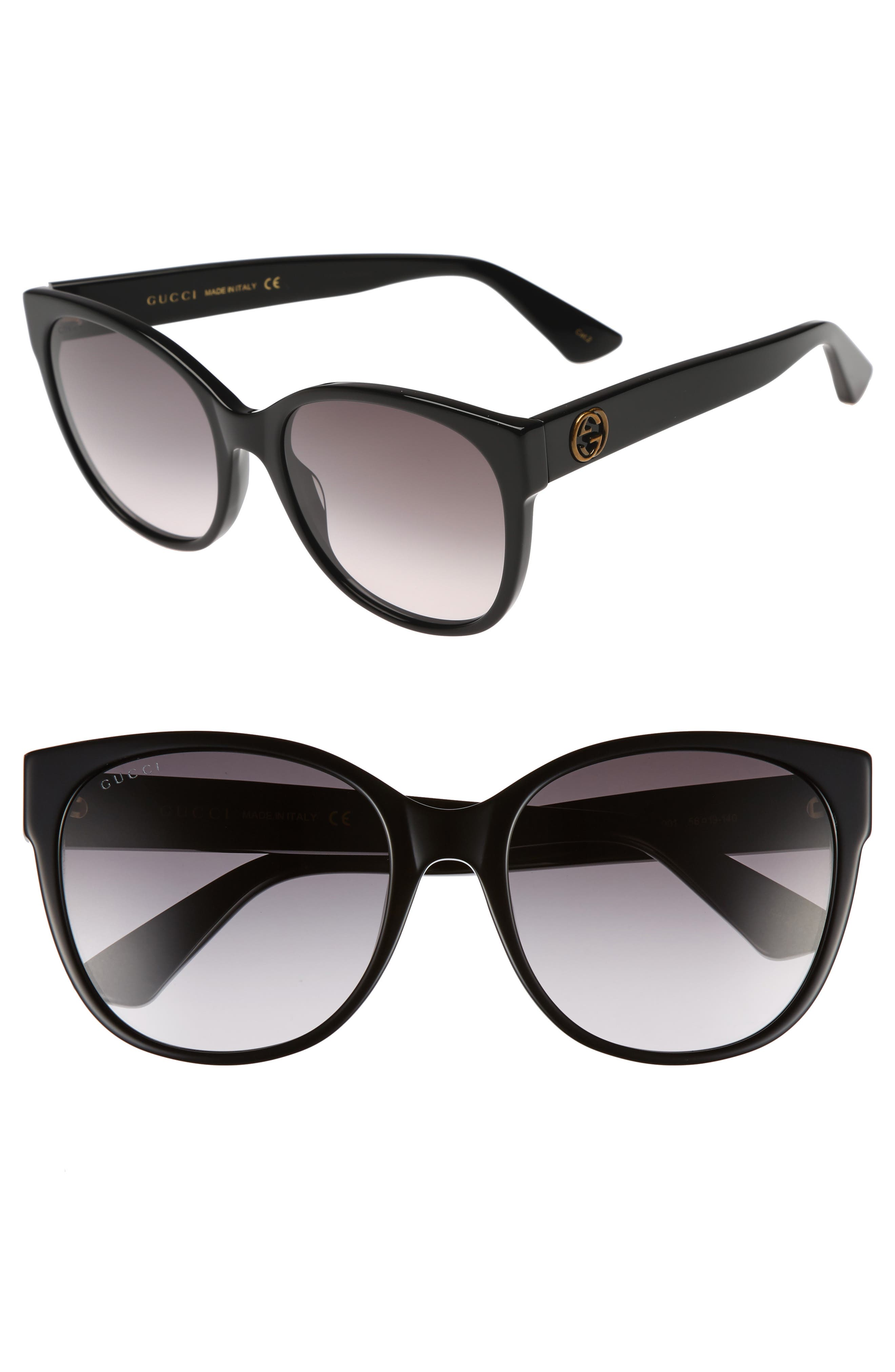 Gucci 56mm Cat Eye Sunglasses