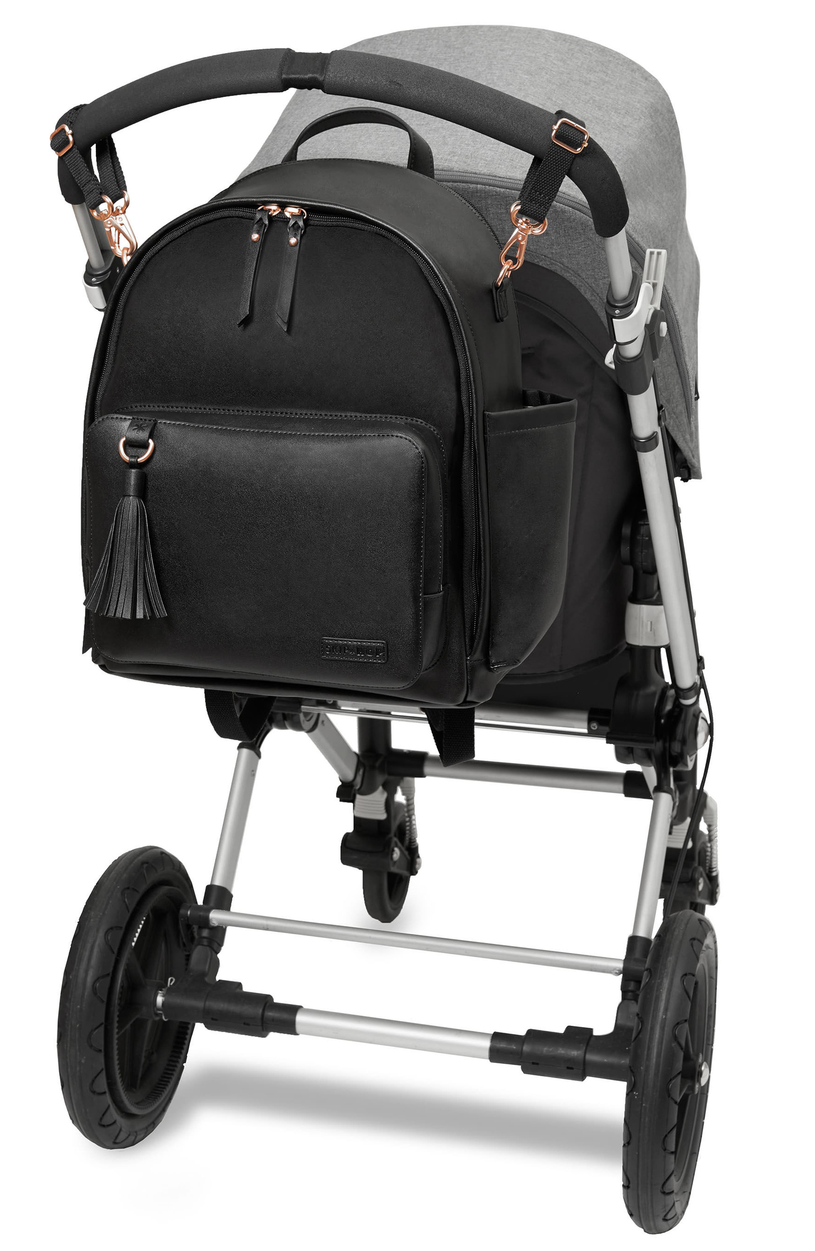 Greenwich Simply Chic Diaper Backpack,                             Alternate thumbnail 2, color,                             Black