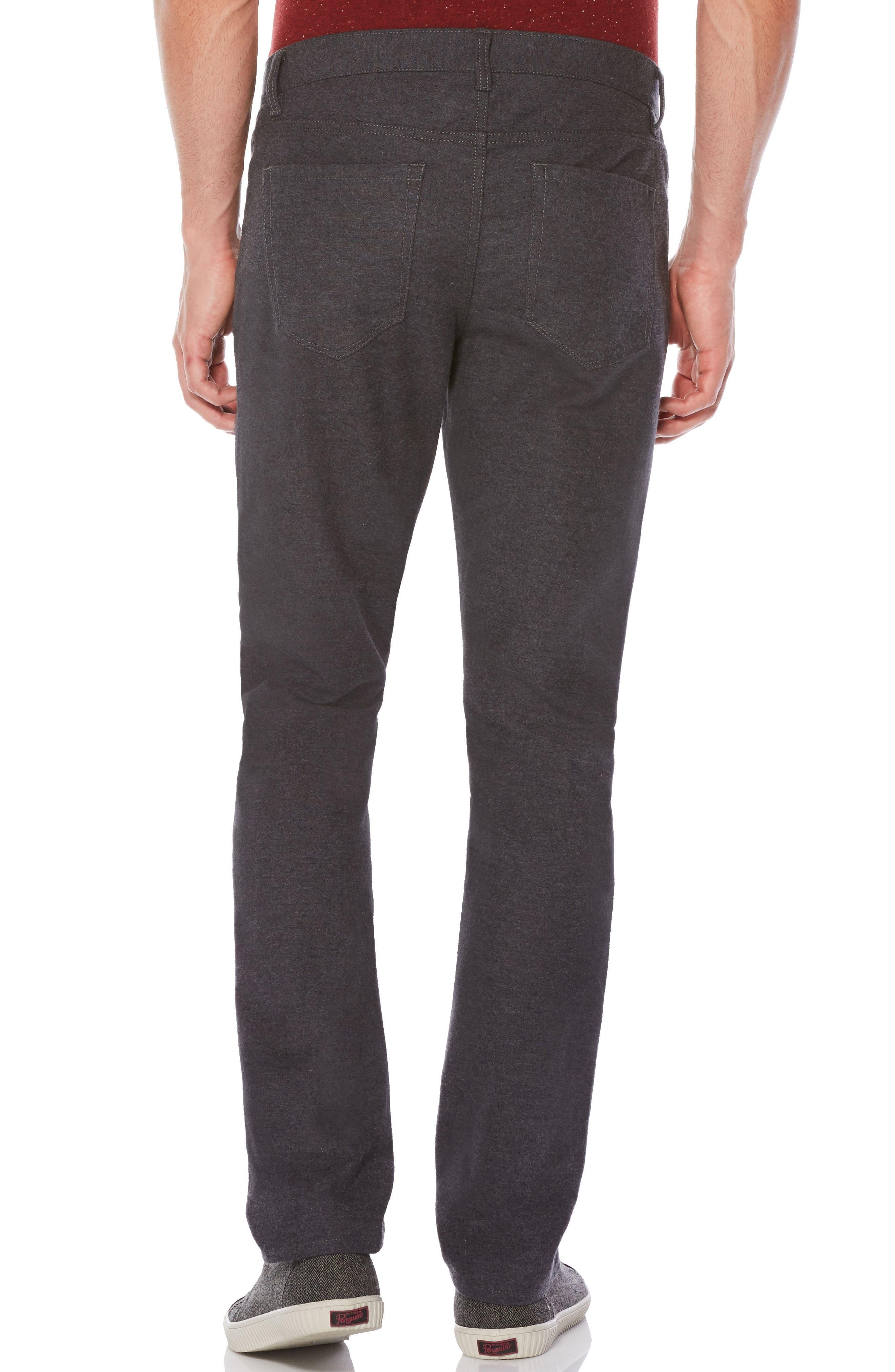 P55 Slim Fit Brushed Cotton Pants,                             Alternate thumbnail 2, color,                             Castlerock