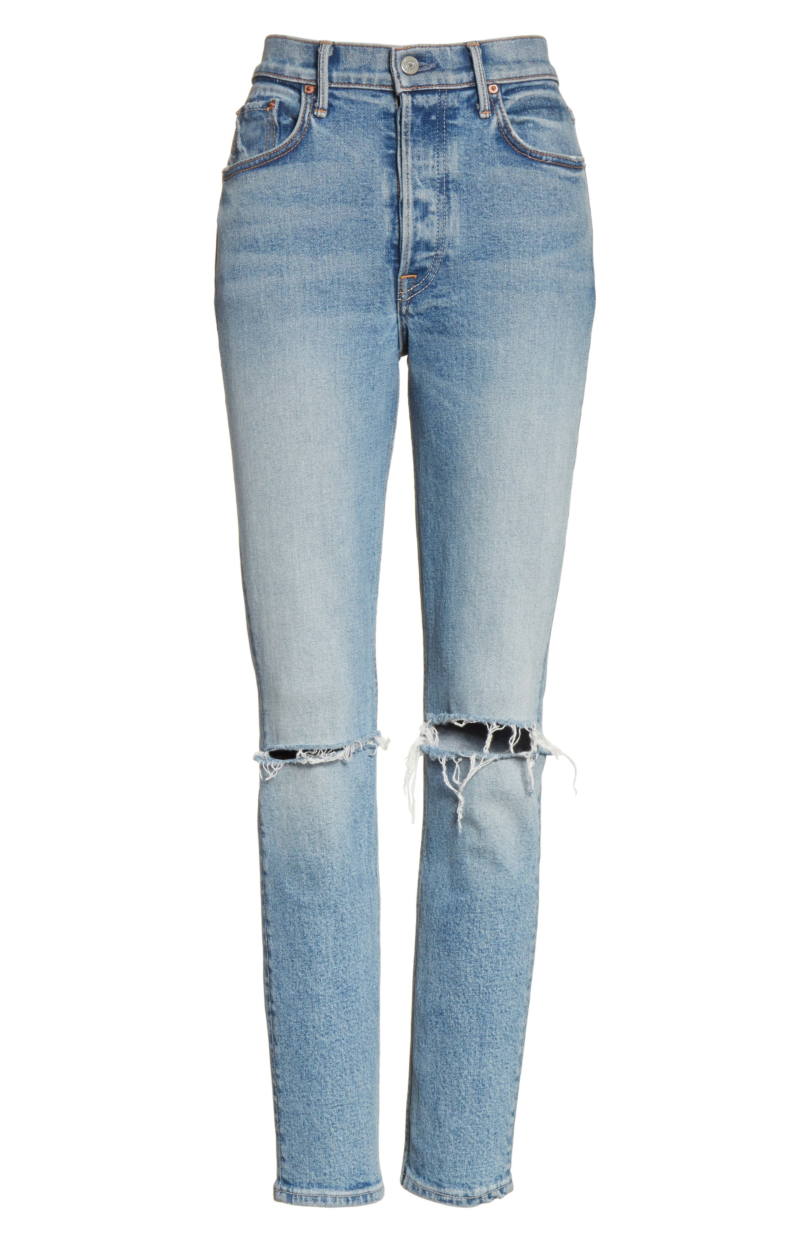 Karolina High Waist Jeans,                             Alternate thumbnail 6, color,                             What Is Life