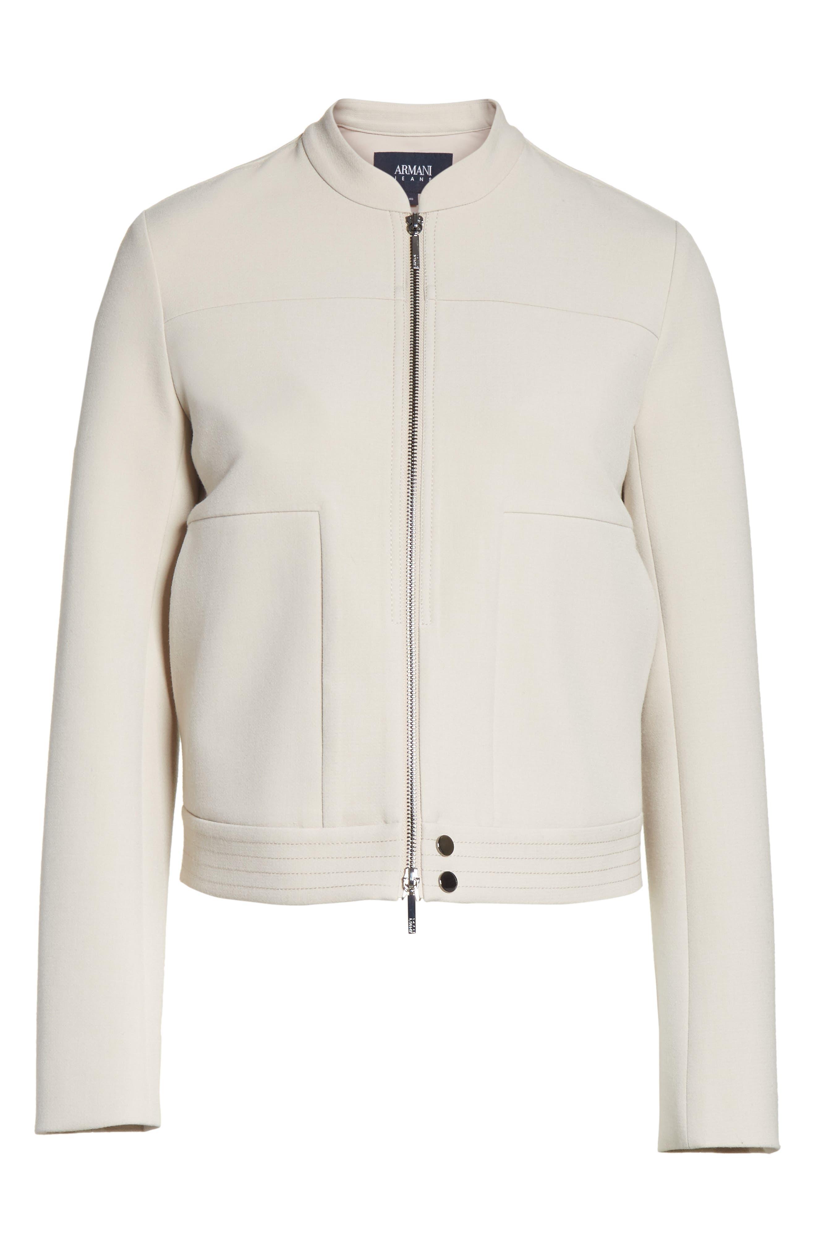 Alternate Image 7  - Armani Collezioni Crepe Jacket