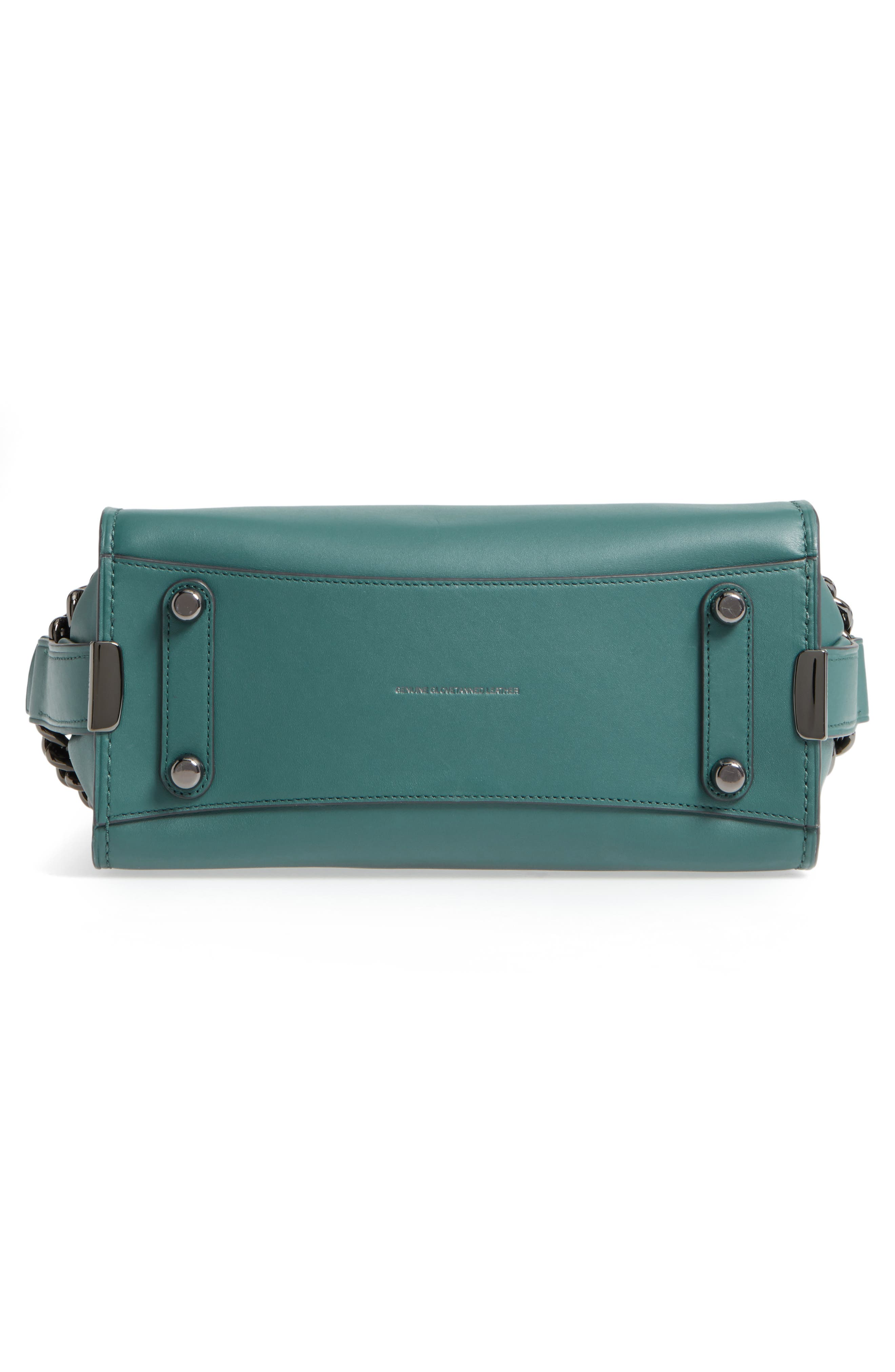ID Bracelet Swagger 27 Calfskin Leather Satchel,                             Alternate thumbnail 5, color,                             Dark Turquoise