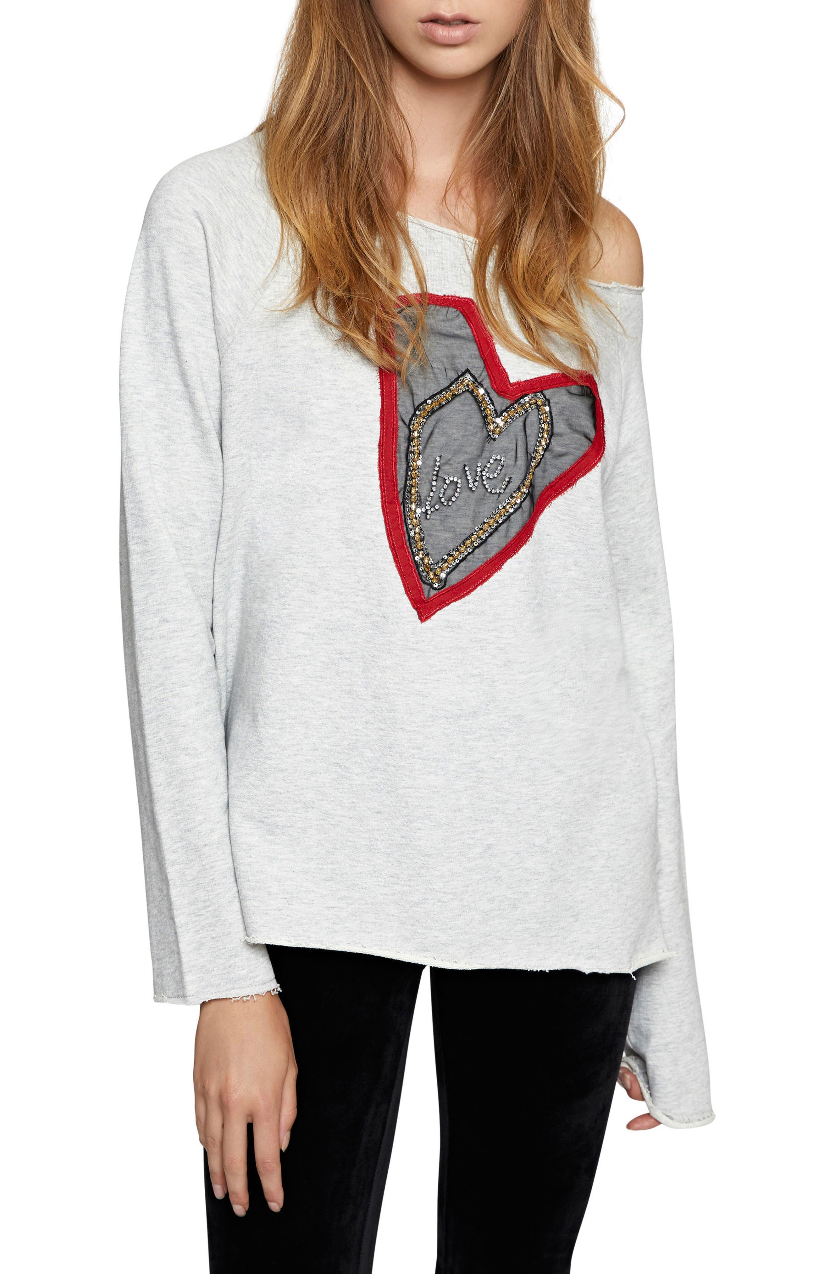 Sanctuary Heartbreaker Embellished Sweater