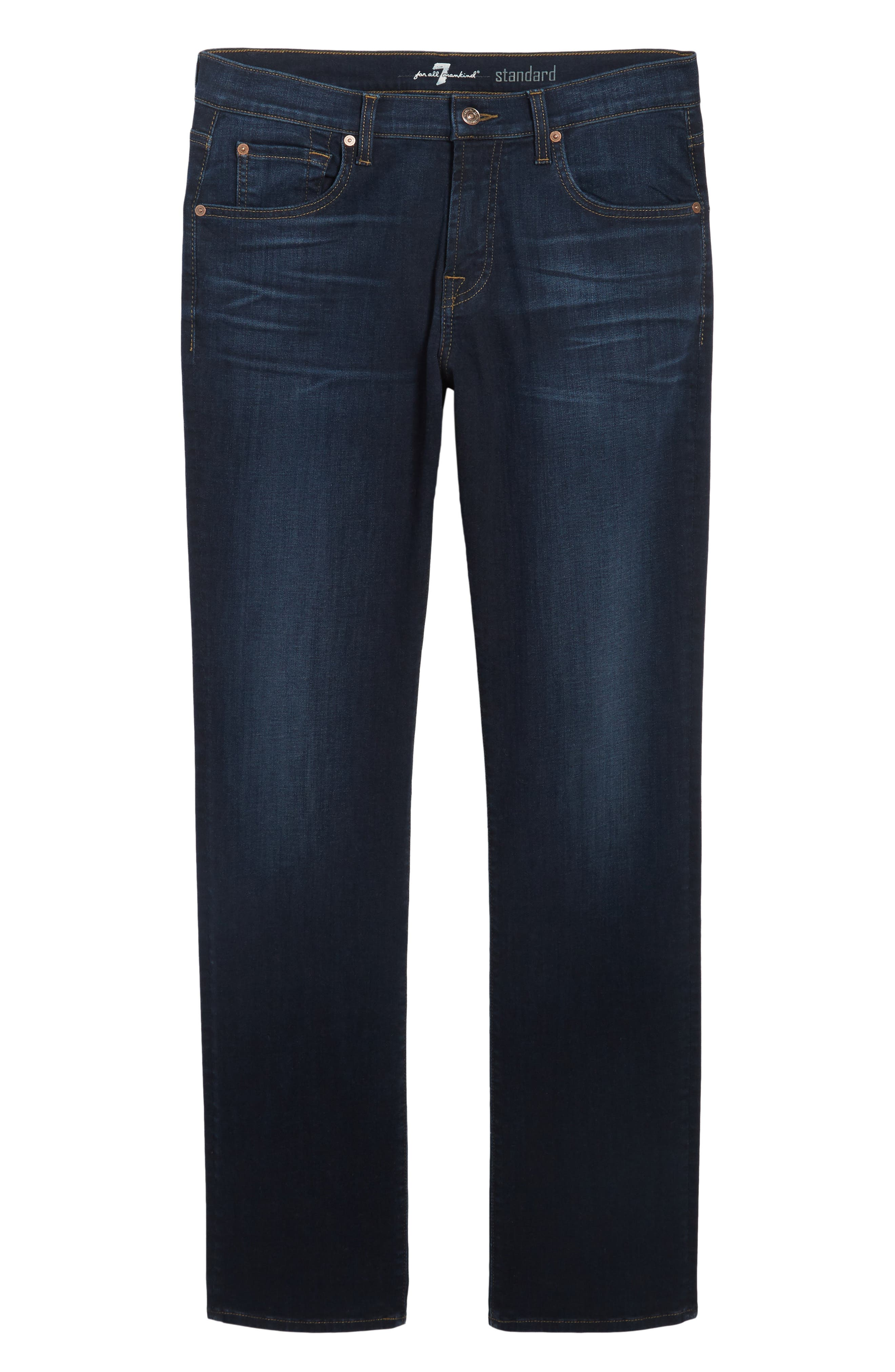 Standard Straight Fit Jeans,                             Alternate thumbnail 6, color,                             Albany