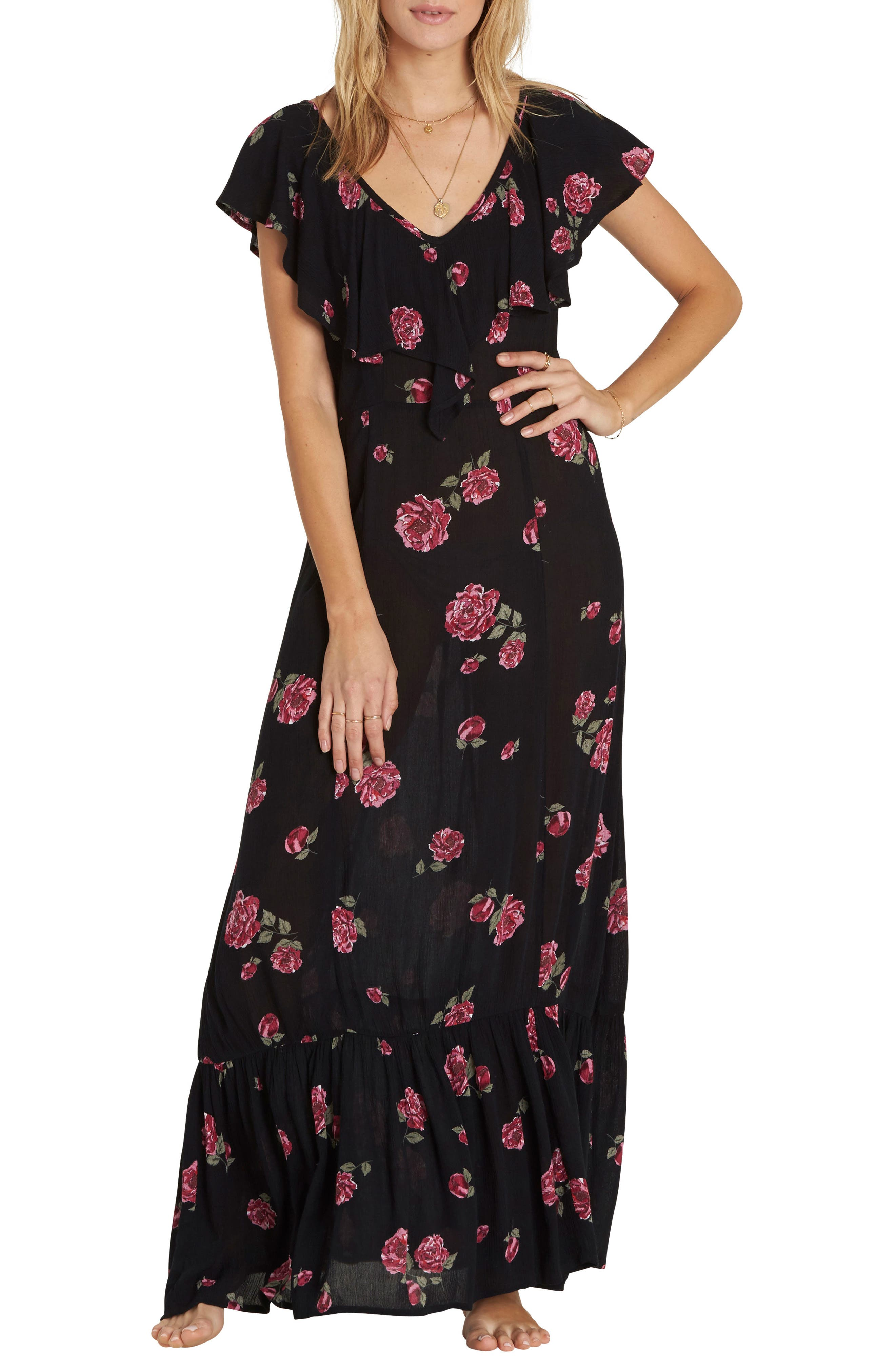 Billabong Southern Border Ruffled Maxi Dress