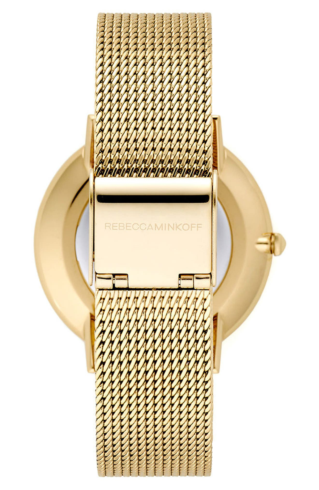 Major Mesh Strap Watch, 35mm,                             Alternate thumbnail 2, color,                             Gold/ Black/ Gold