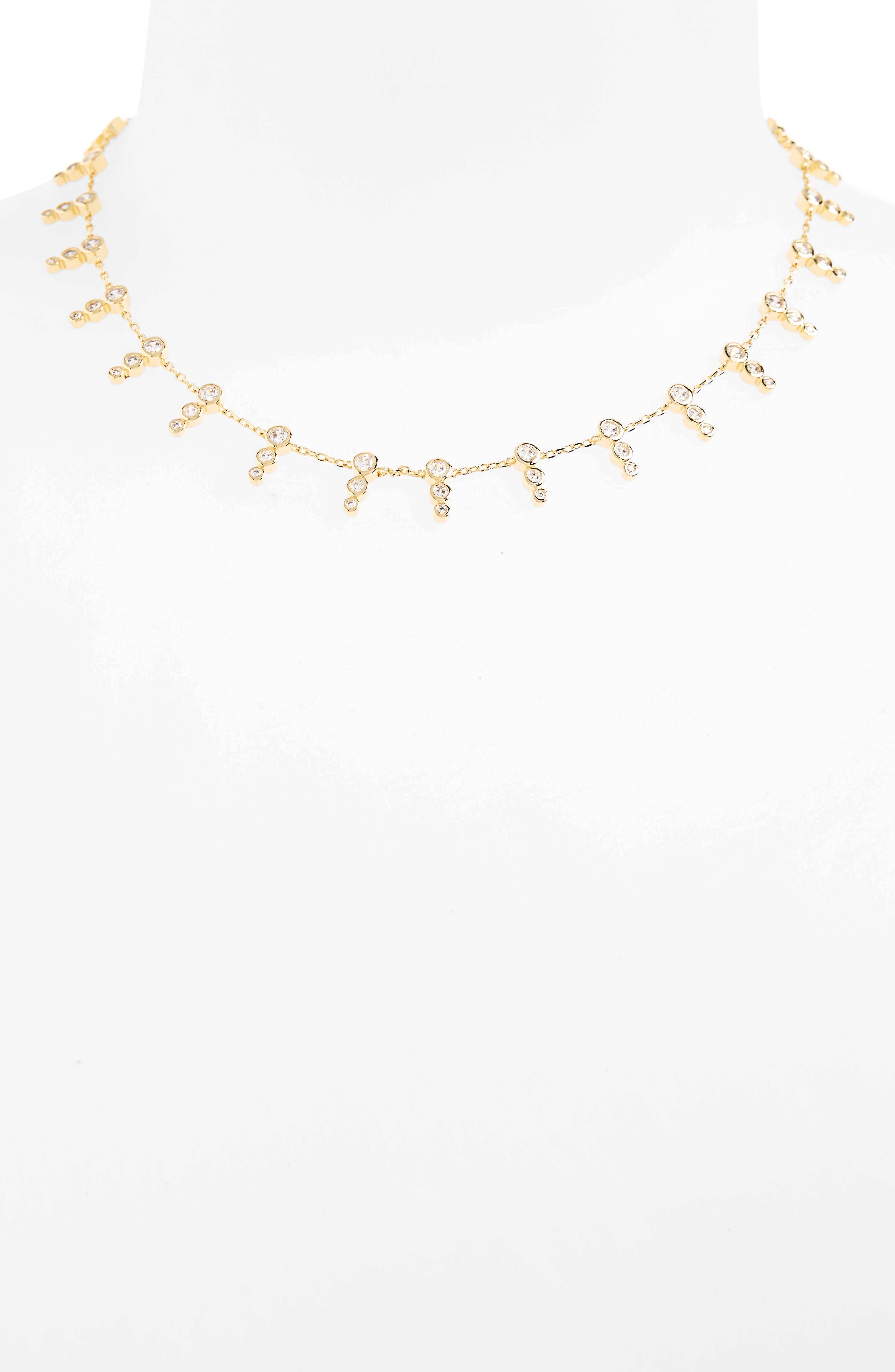 Melinda Maria McPhee Cubic Zirconia Collar Necklace