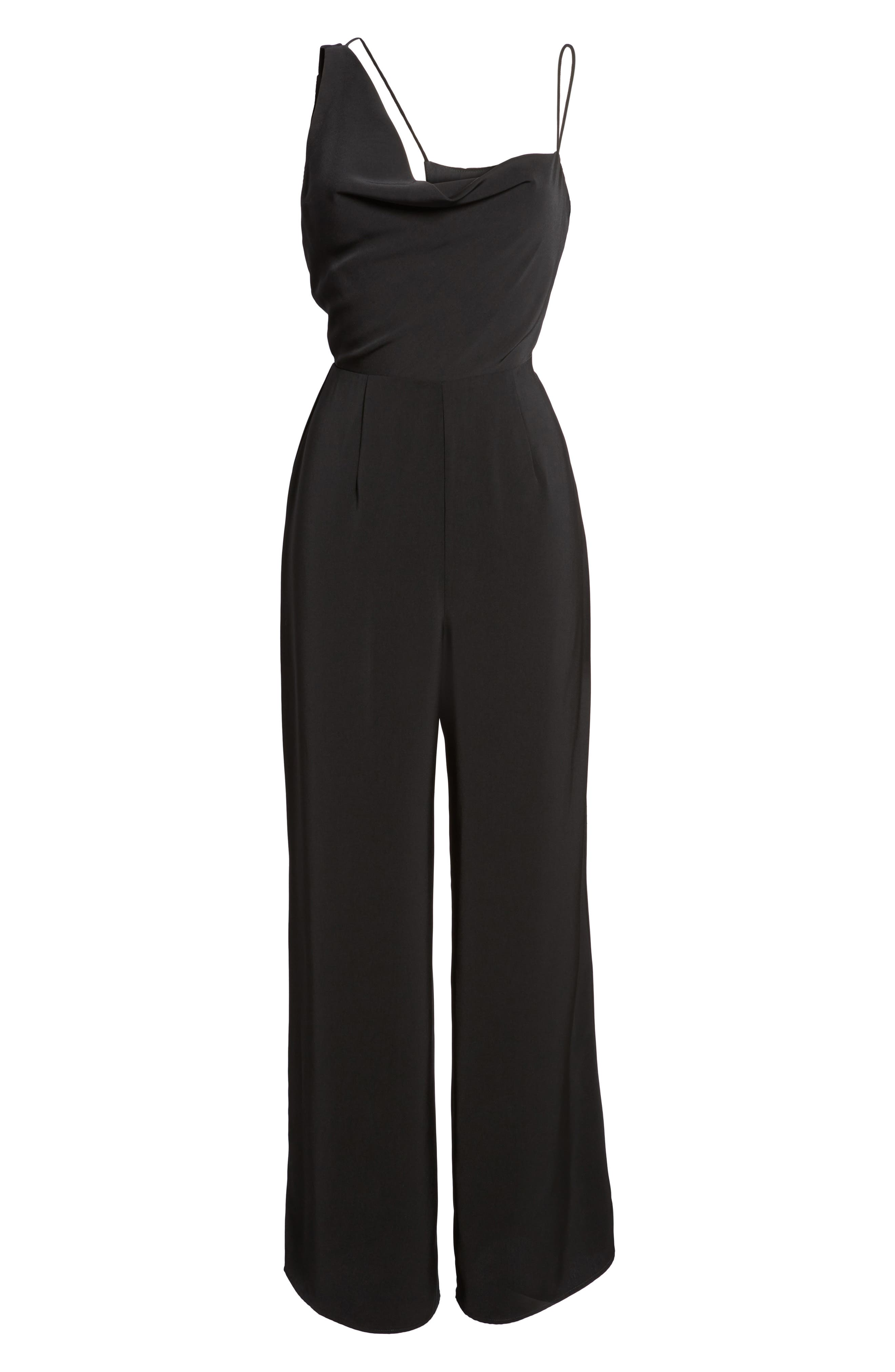 Be Mine Jumpsuit,                             Alternate thumbnail 6, color,                             Black