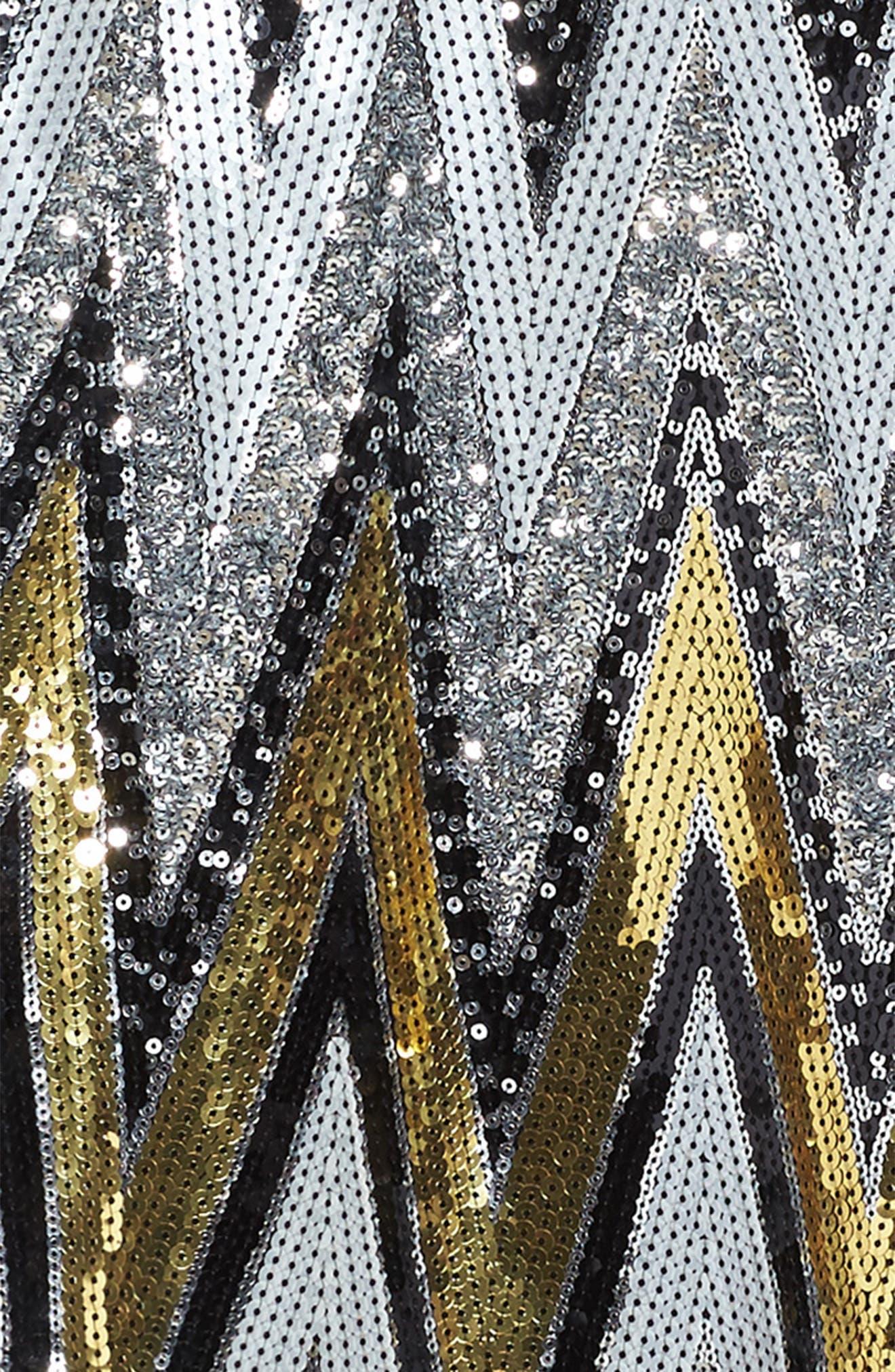 Alternate Image 3  - Marciano Chevron Sequin Sweater Dress (Big Girls)