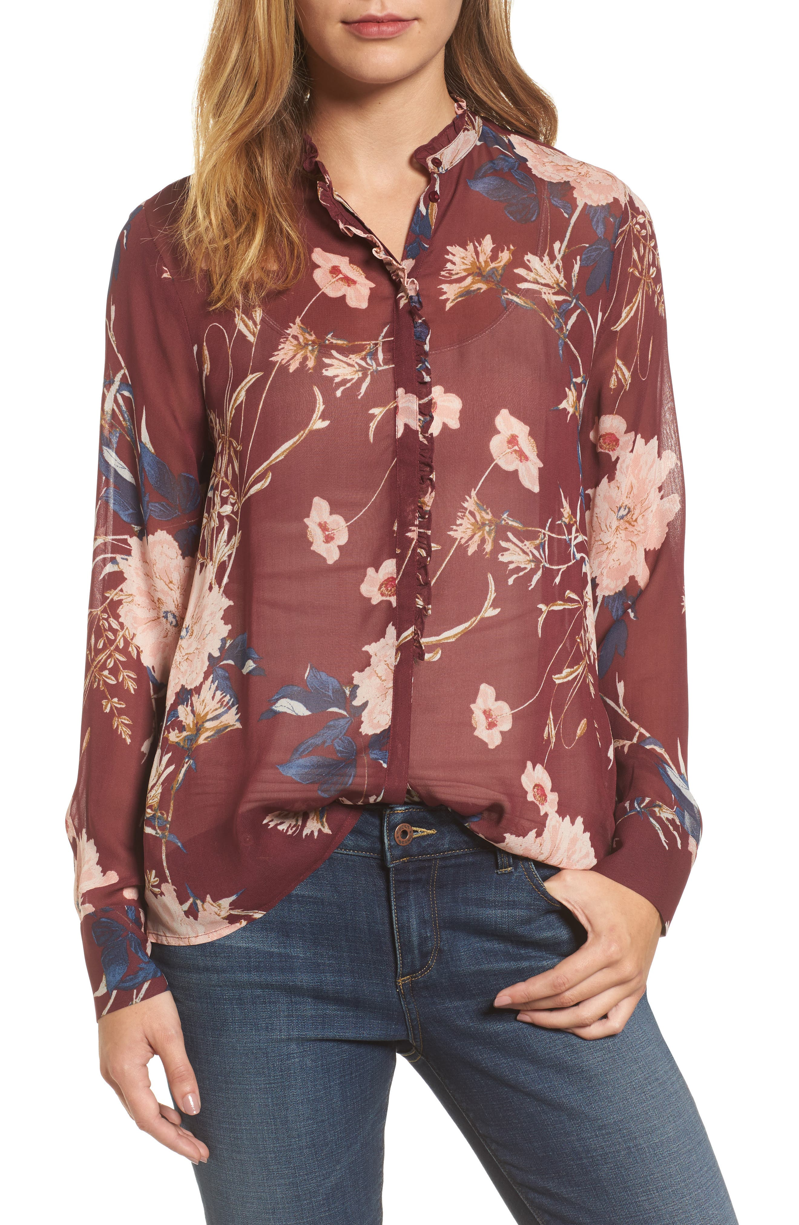 Lucky Brand Floral Print Blouse