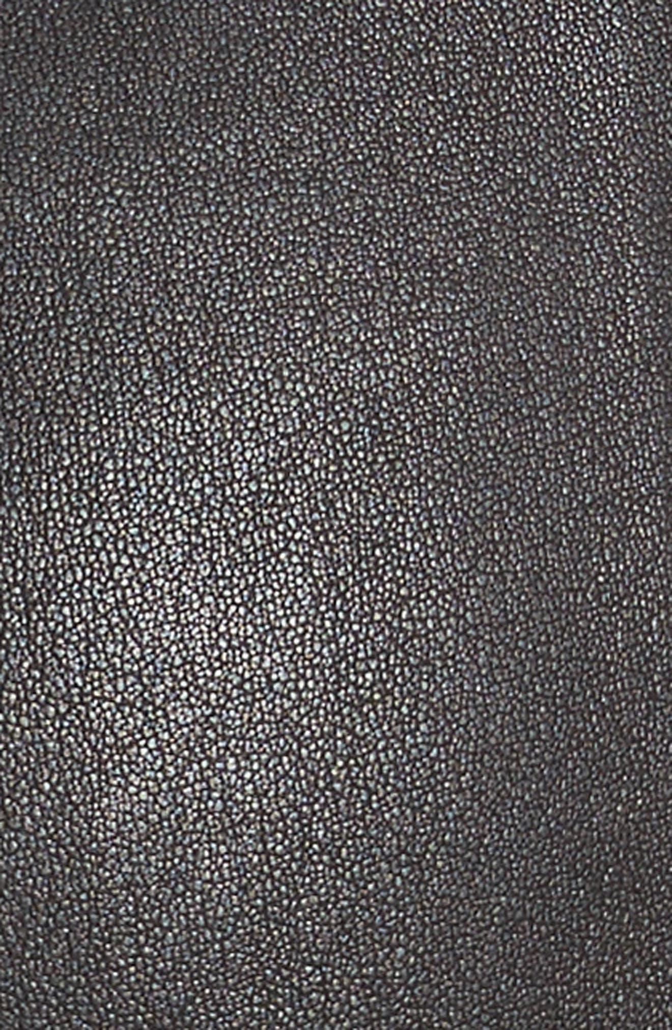 Delia Lace Up Leather Pants,                             Alternate thumbnail 5, color,                             Black