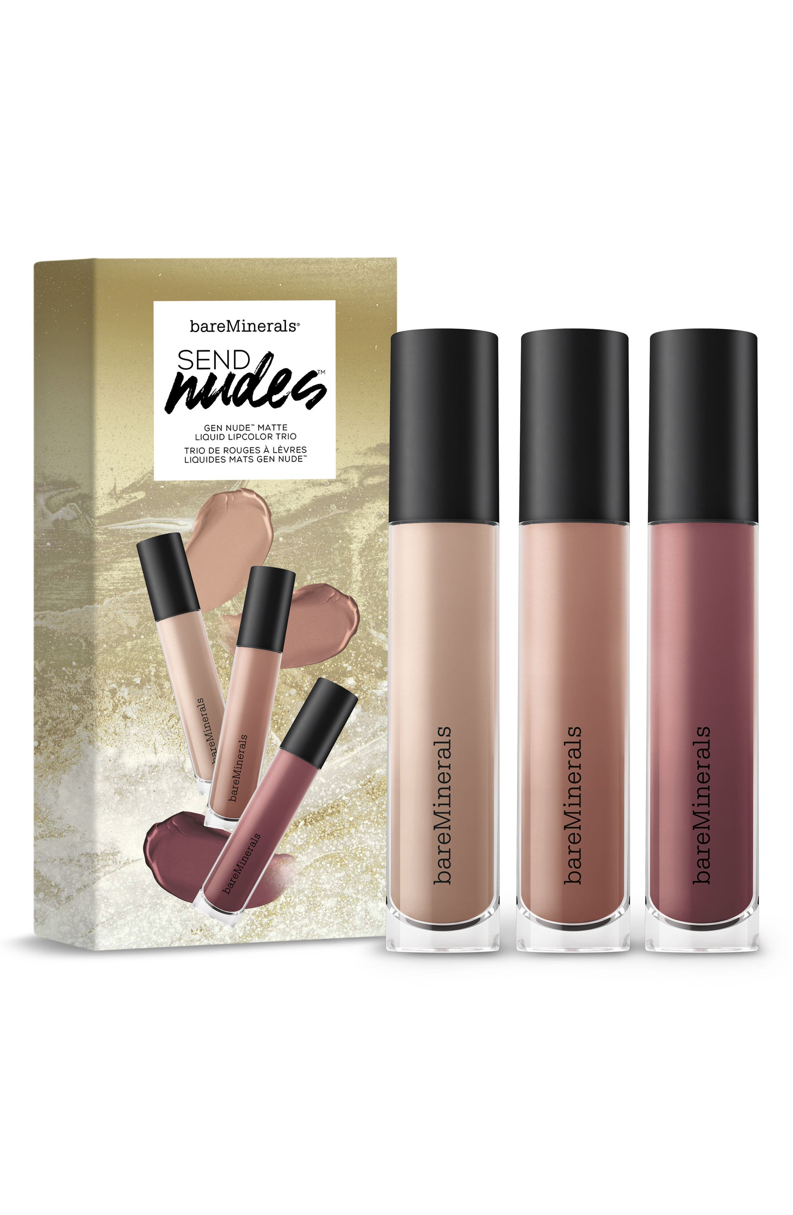 Alternate Image 1 Selected - bareMinerals® Gen Nude® Matte Liquid Lipcolor Trio