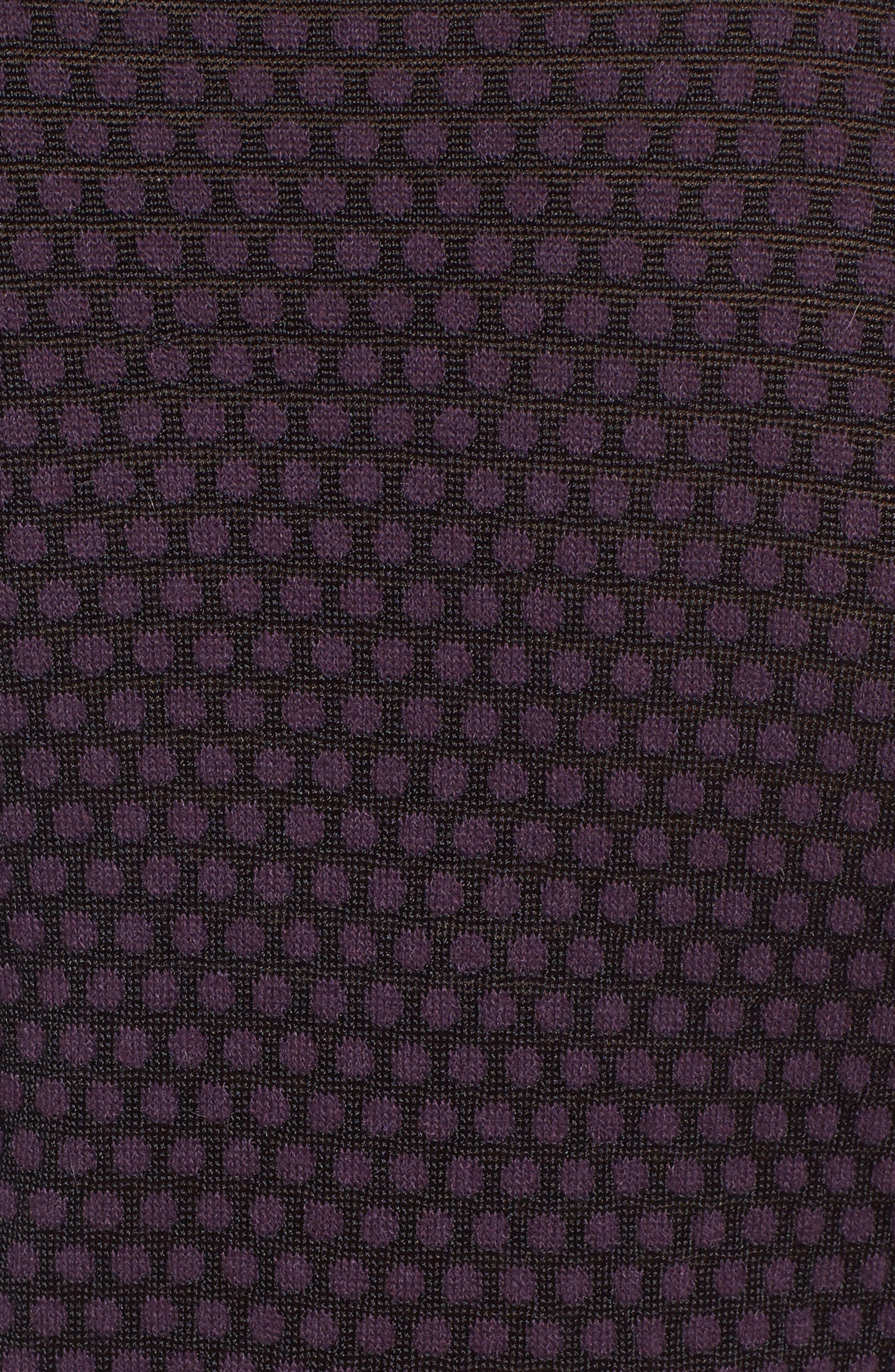 Dot Fielitza Jacquard Sweater,                             Alternate thumbnail 5, color,                             Dark Dahlia