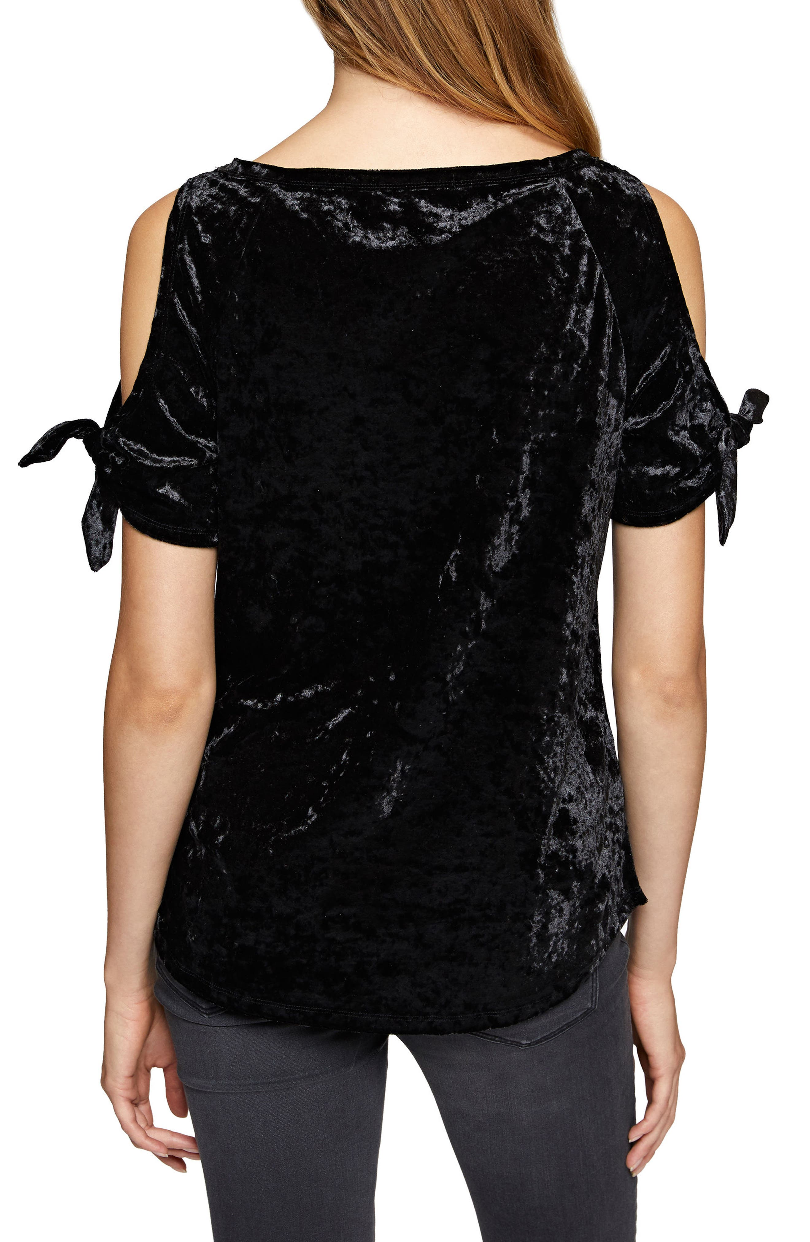 Alternate Image 2  - Sanctuary Lou Crushed Velvet Top (Regular & Petite)