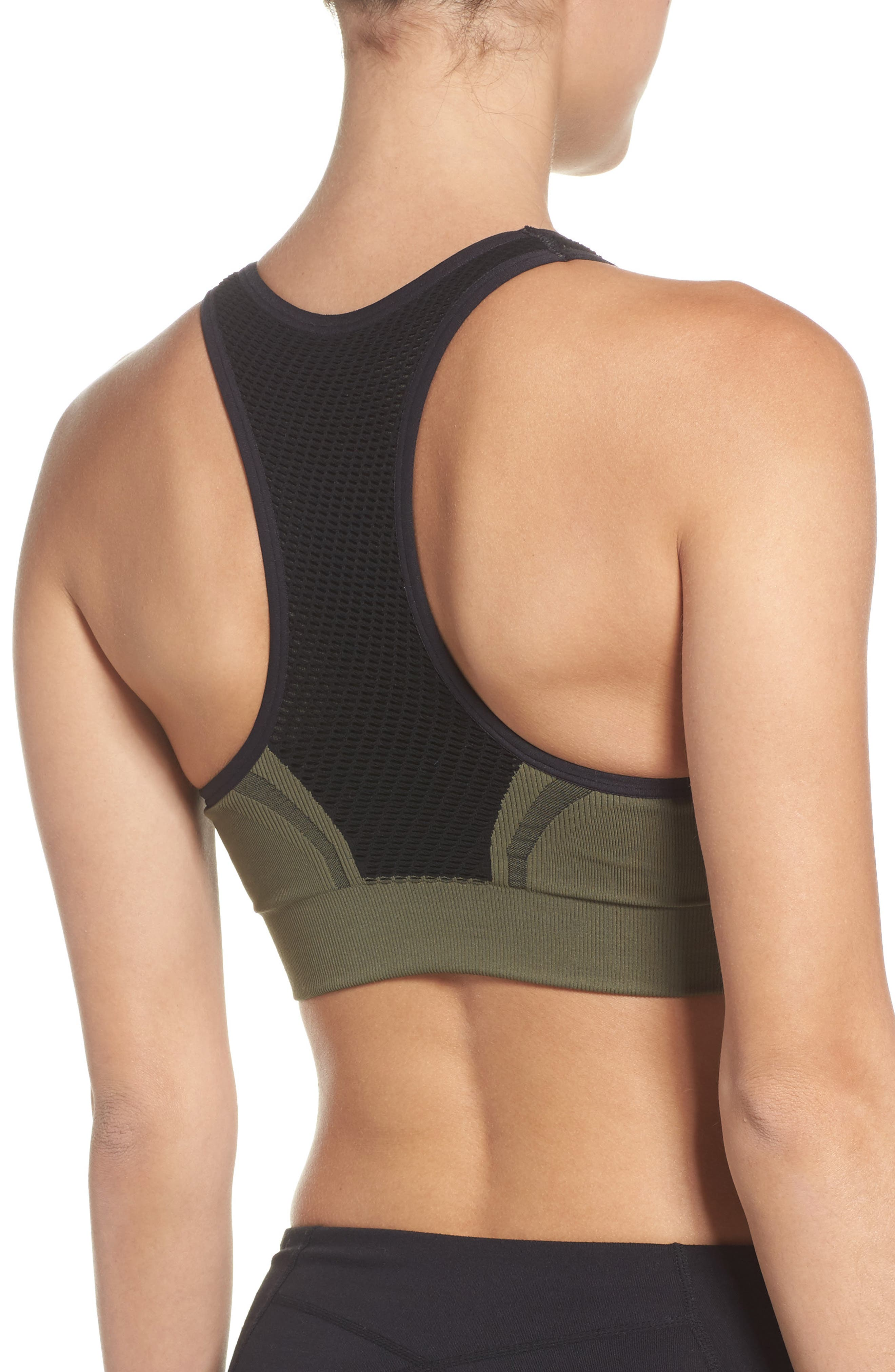 Charge Sports Bra,                             Alternate thumbnail 2, color,                             Olive Night