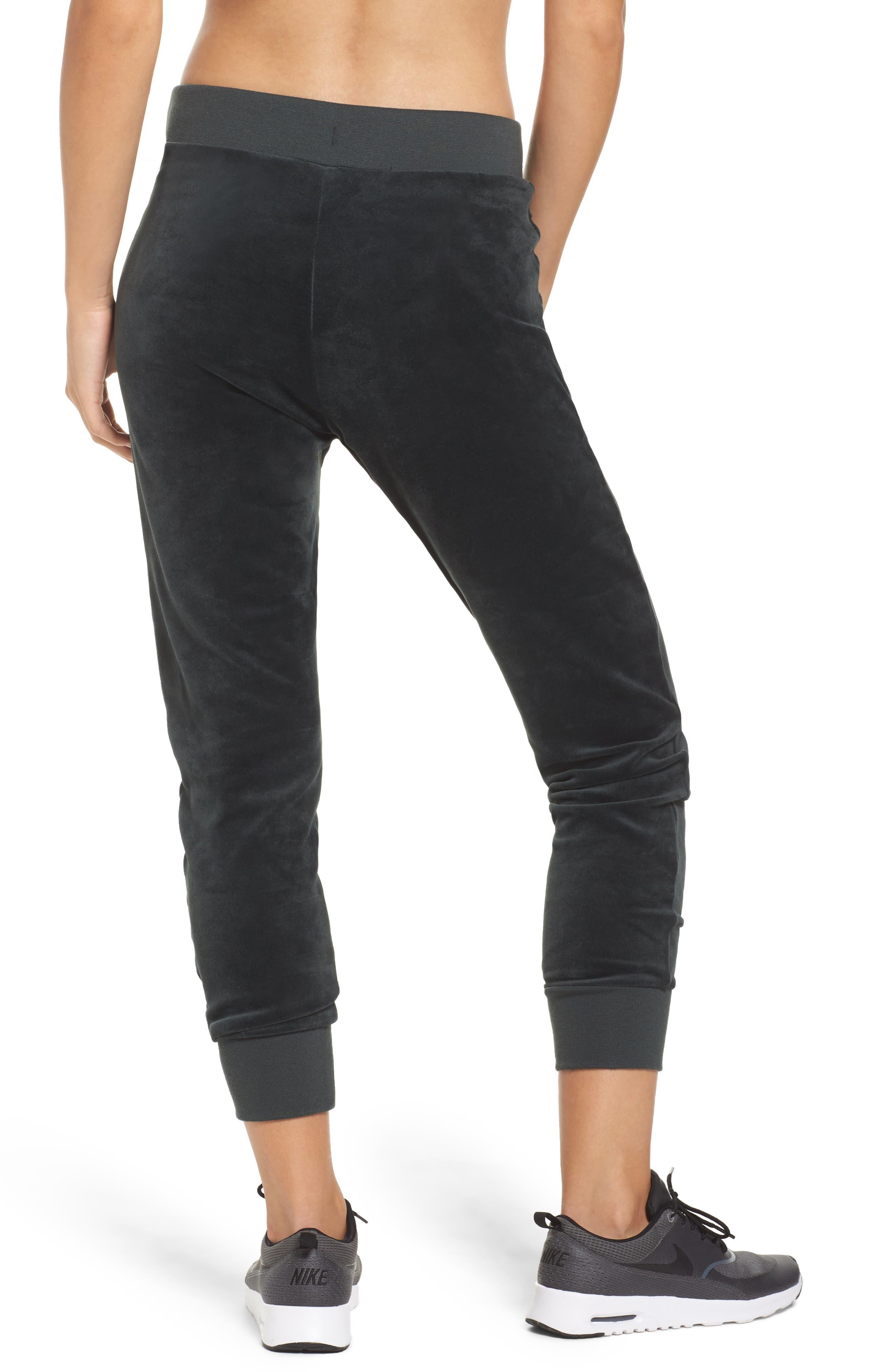 Alternate Image 2  - Nike Velour Drawstring Capri Pants