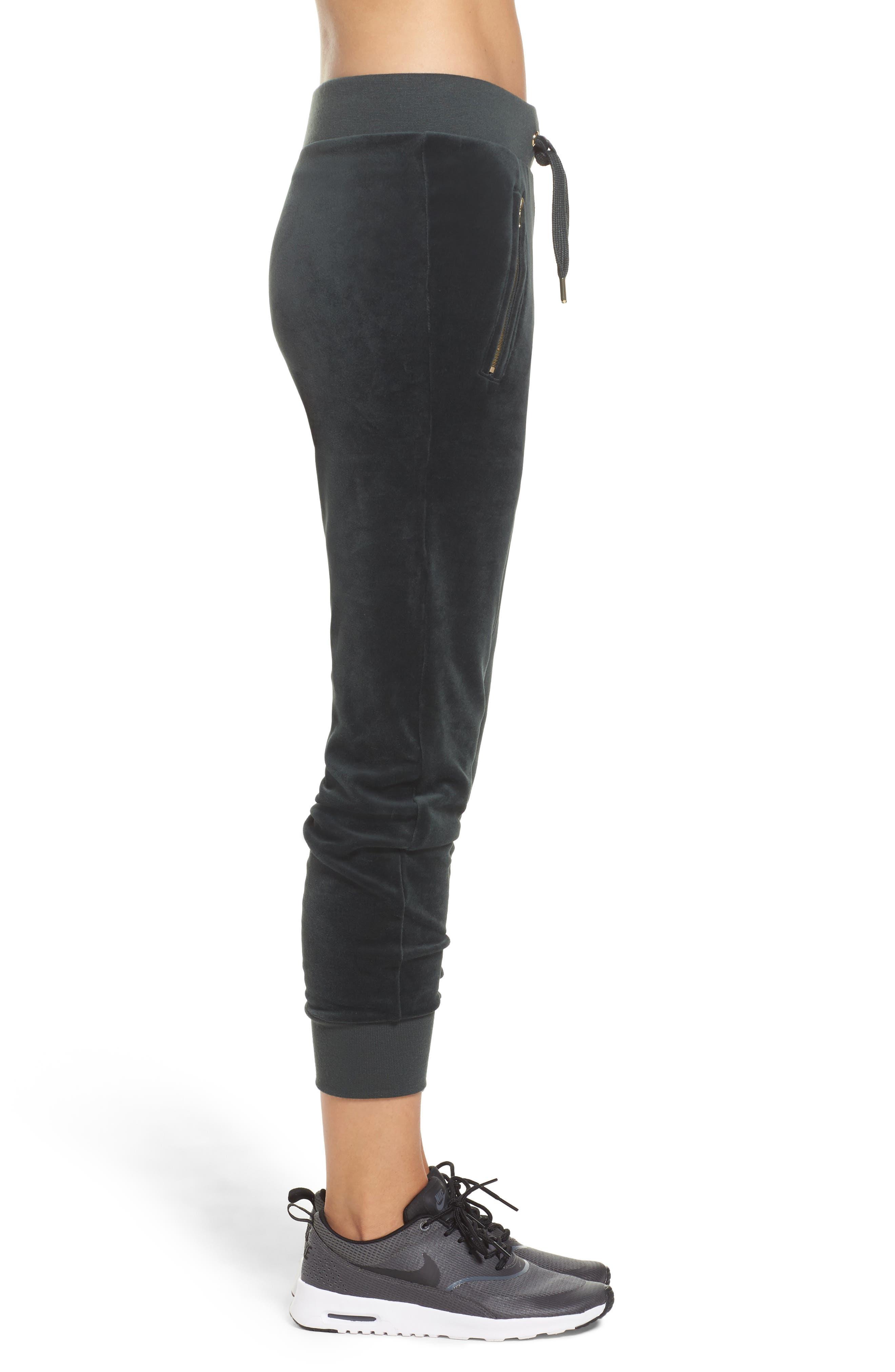 Alternate Image 3  - Nike Velour Drawstring Capri Pants