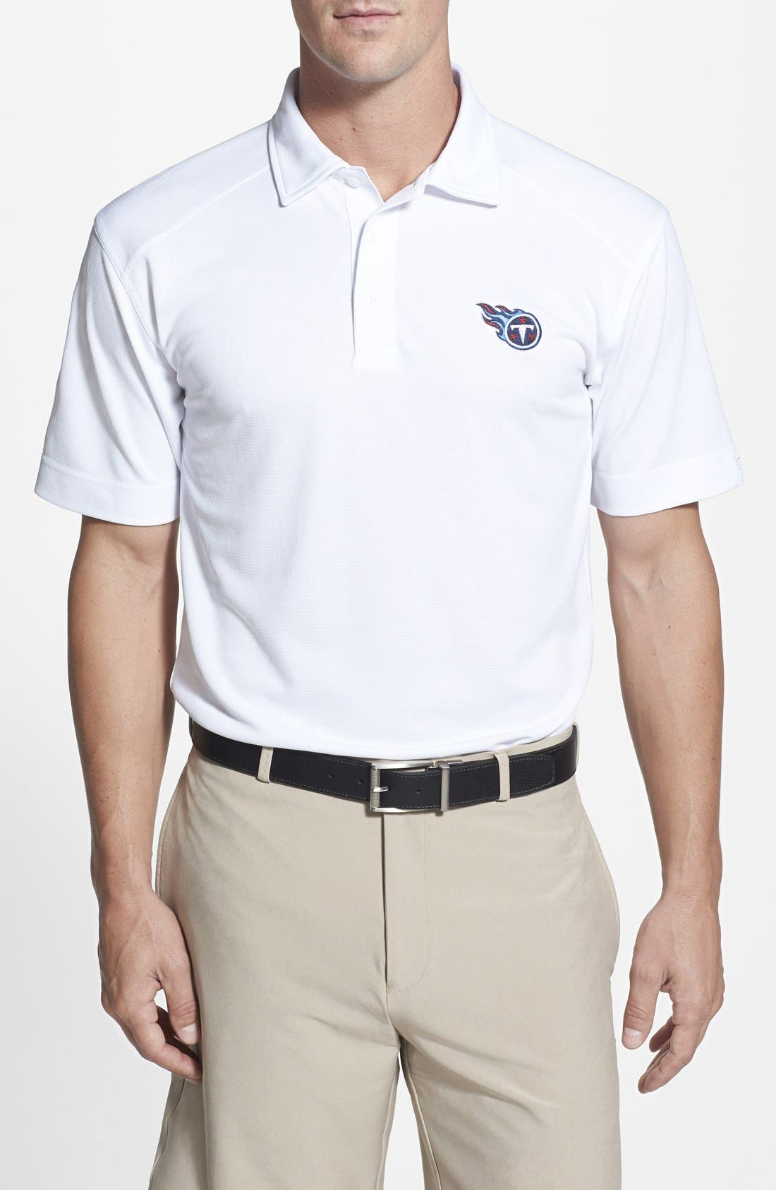 Cutter & Buck Tennessee Titans - Genre DryTec Moisture Wicking Polo