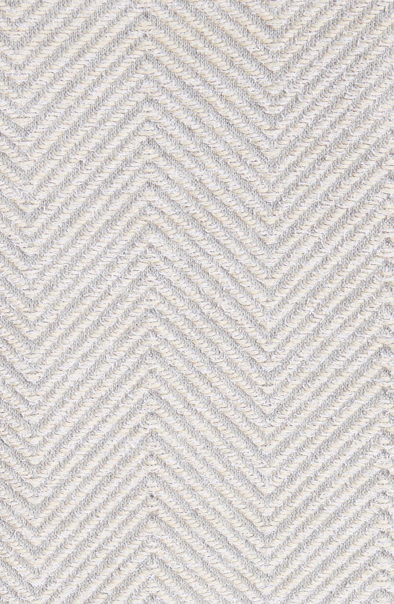 Fringe Trim Chevron Jacket,                             Alternate thumbnail 7, color,                             Grey Beige