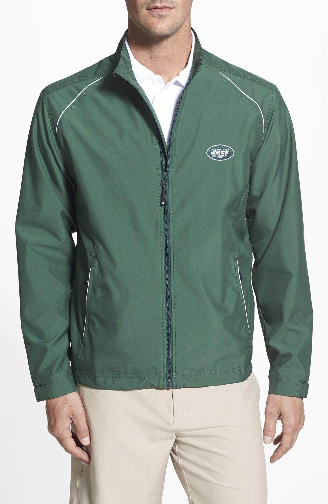 New York Jets - Beacon WeatherTec Wind & Water Resistant Jacket,                         Main,                         color, Hunter Green