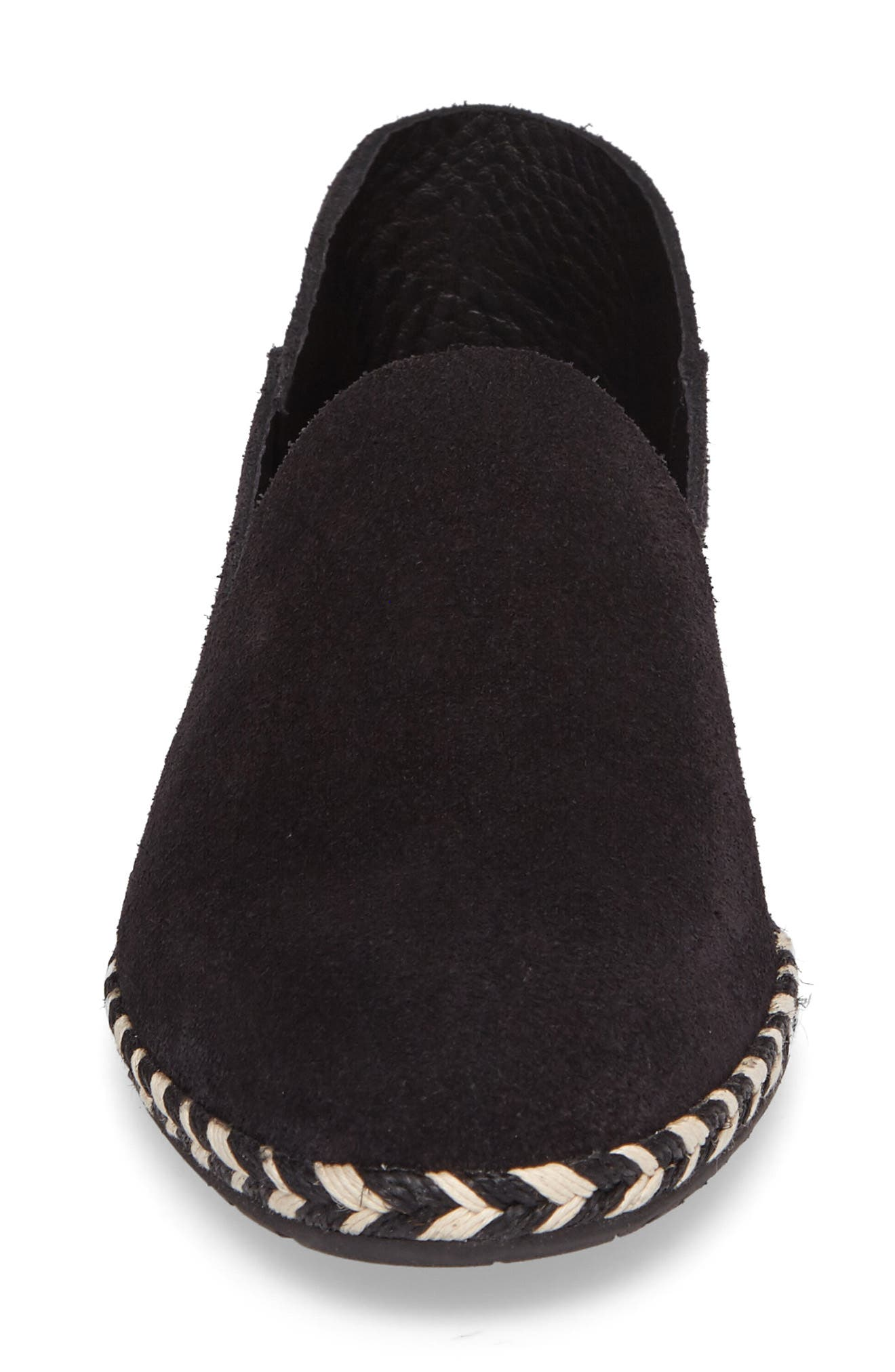 Yuli Convertible Woven Loafer,                             Alternate thumbnail 4, color,                             Black