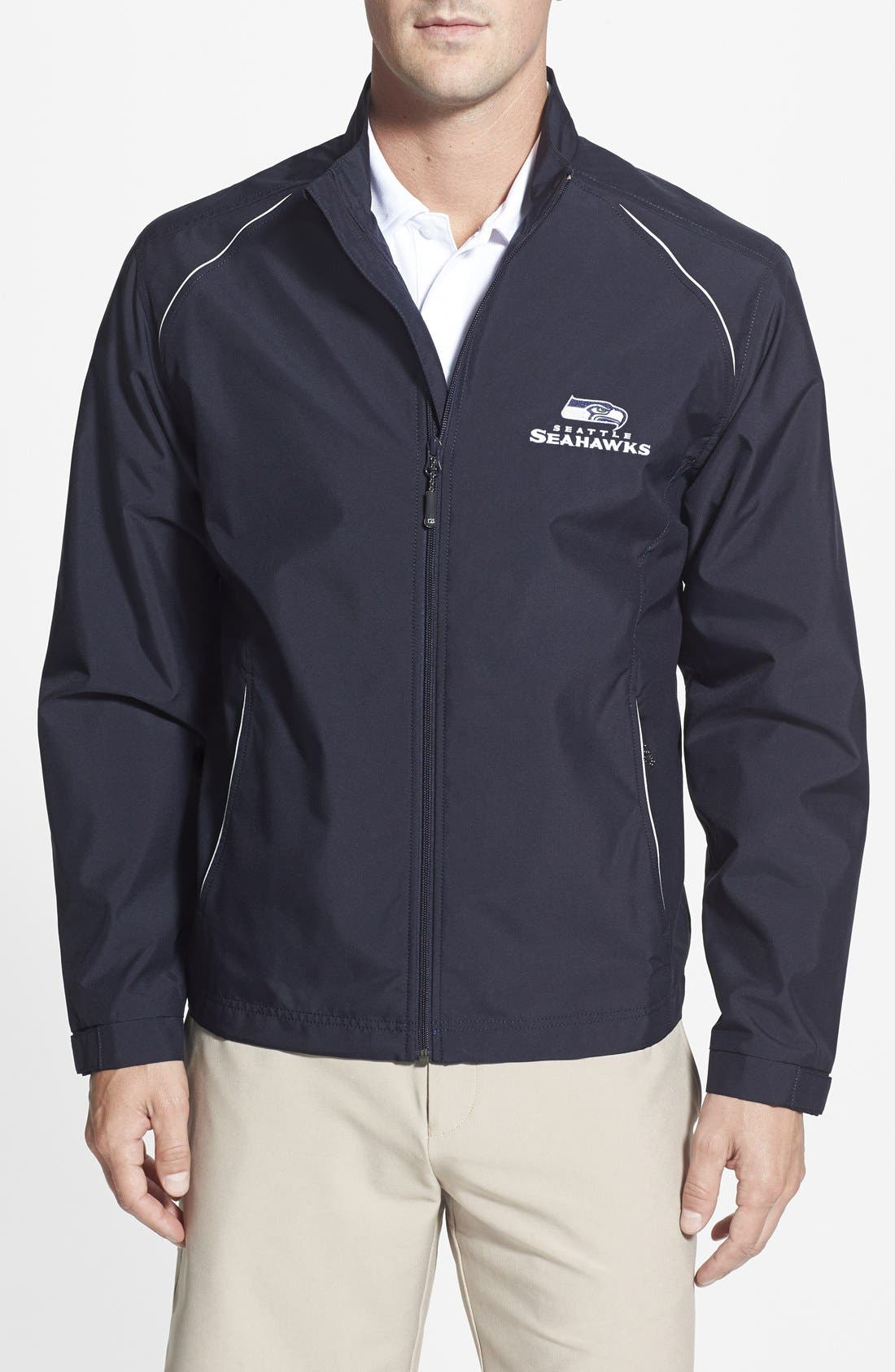 Cutter & Buck 'Seattle Seahawks - Beacon' WeatherTec Wind & Water Resistant Jacket (Big & Tall)