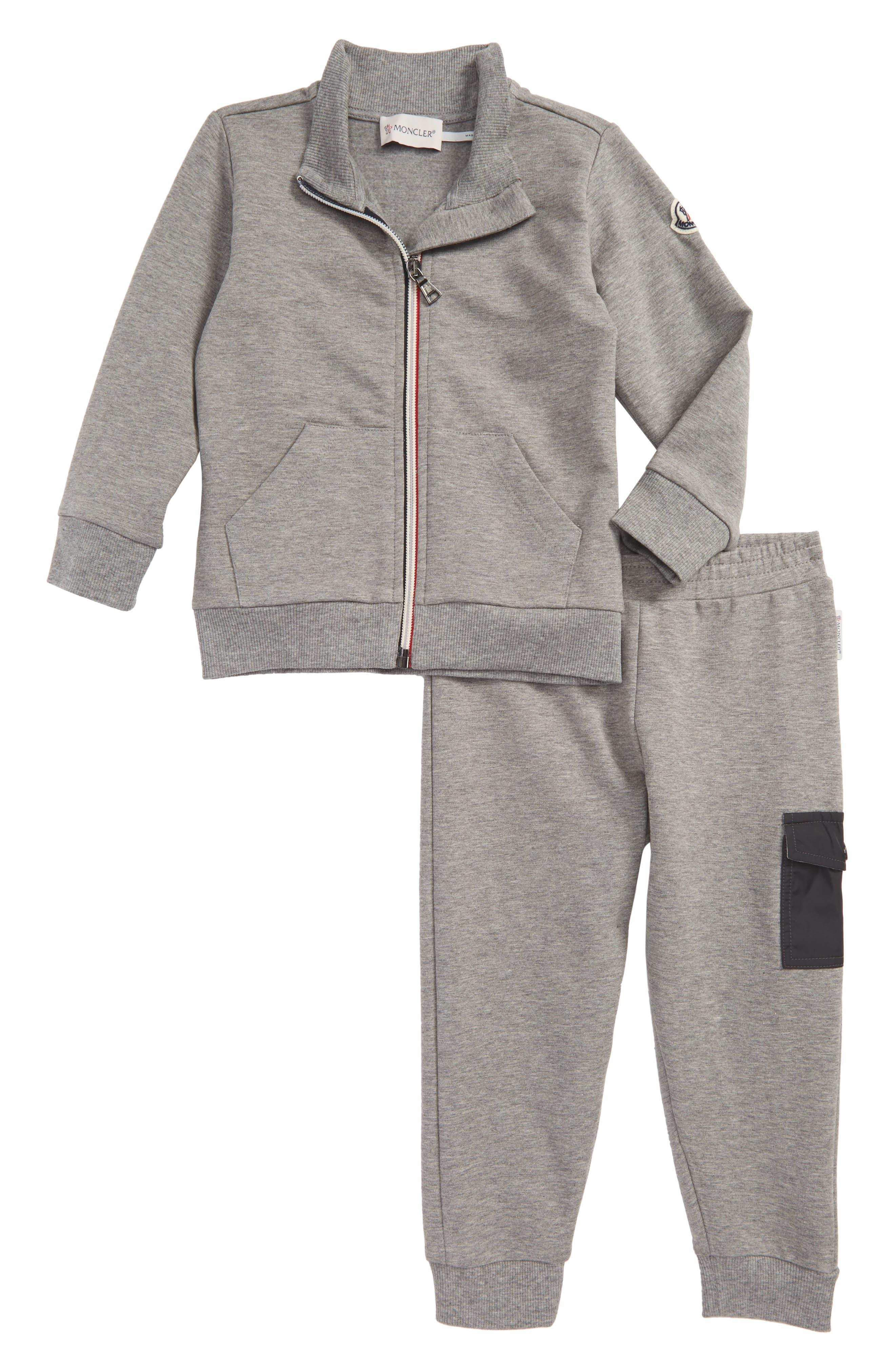 Main Image - Moncler Zip-Up Jacket & Sweatpants Set (Baby Boys & Toddler Boys)
