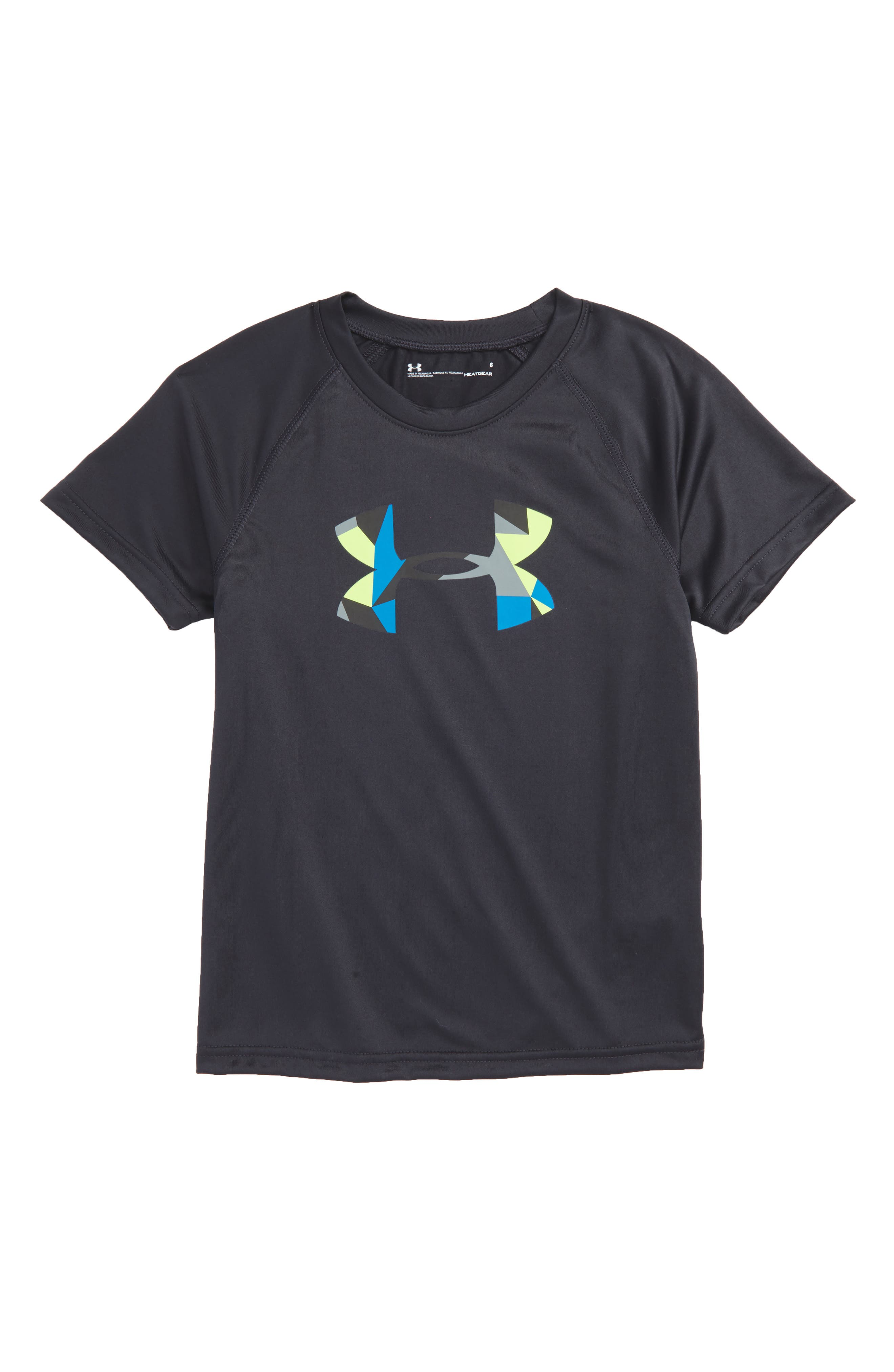 Alternate Image 1 Selected - Under Armour Geo Cache Graphic HeatGear® T-Shirt (Toddler Boys & Little Boys)