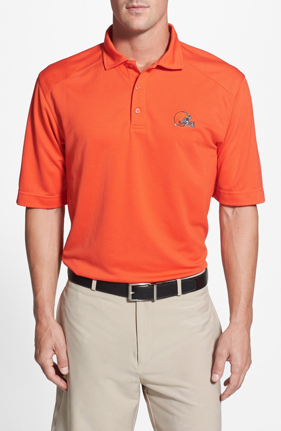 Cleveland Browns - Genre DryTec Moisture Wicking Polo,                         Main,                         color, College Orange