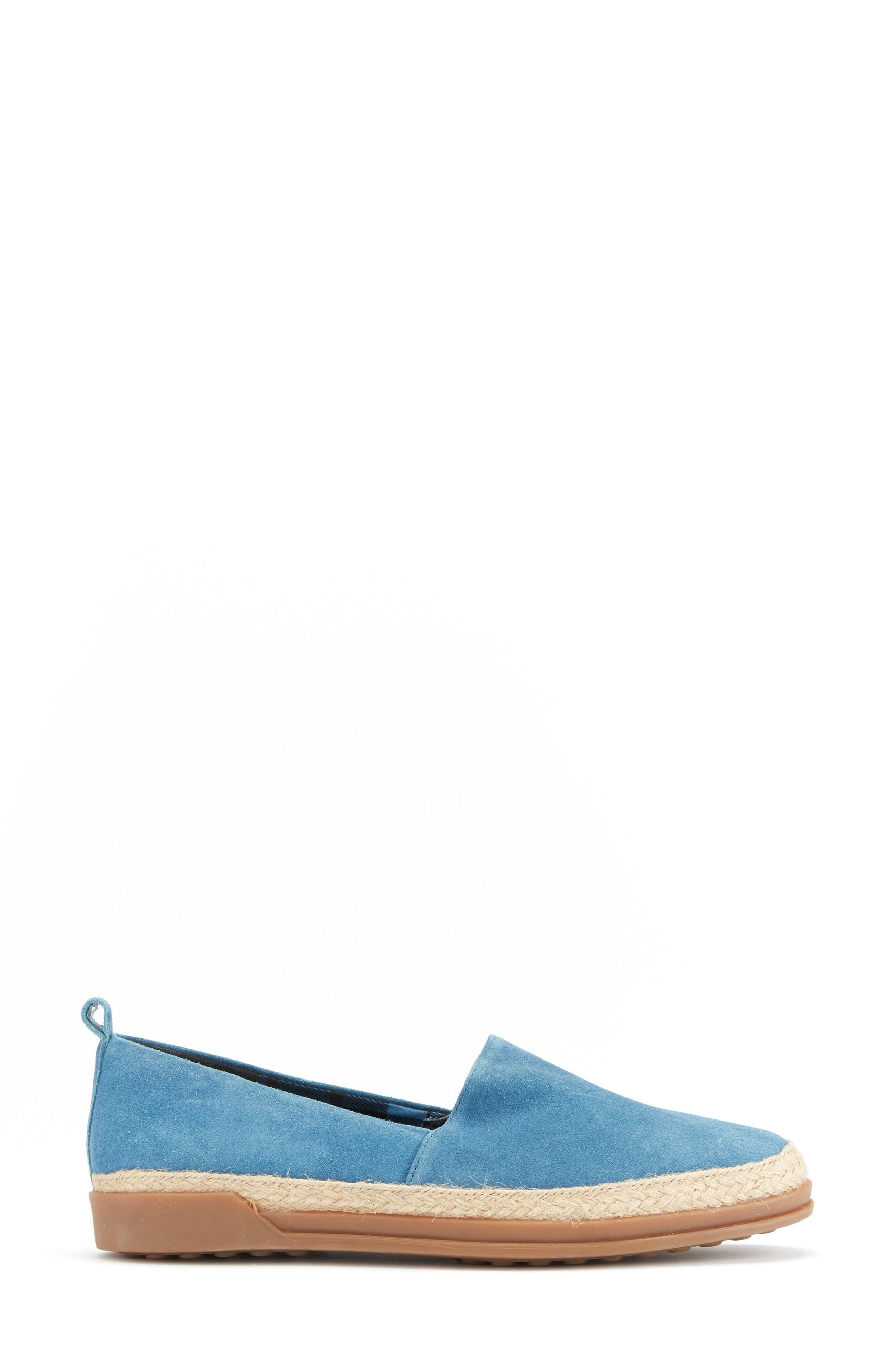 Bailey Espadrille Flat,                             Alternate thumbnail 3, color,                             Blue Suede