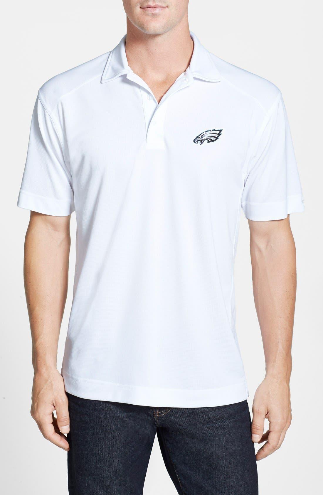 Philadelphia Eagles - Genre DryTec Moisture Wicking Polo,                         Main,                         color, White