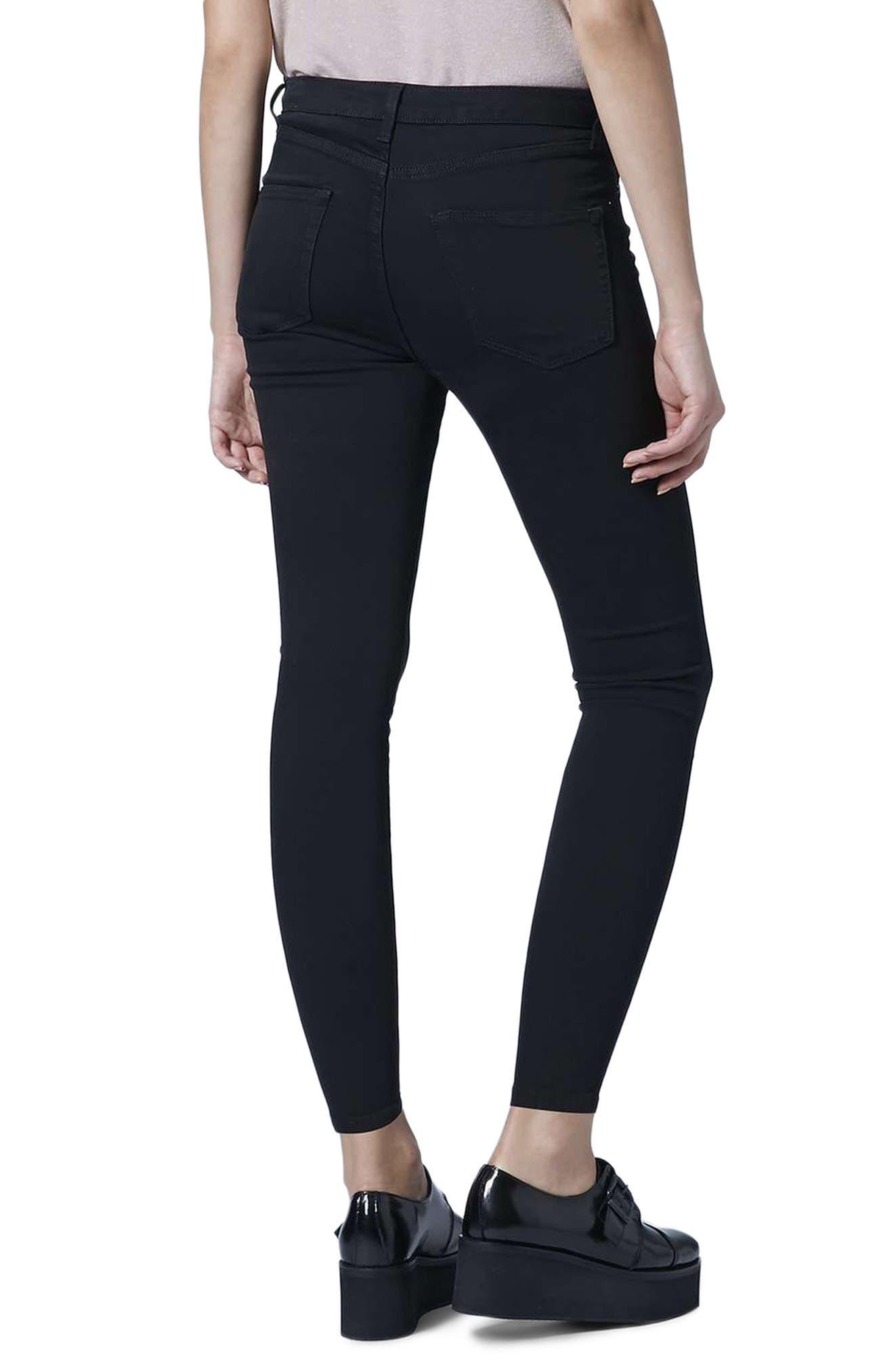 Jamie Ankle Skinny Jeans,                             Alternate thumbnail 2, color,                             Black