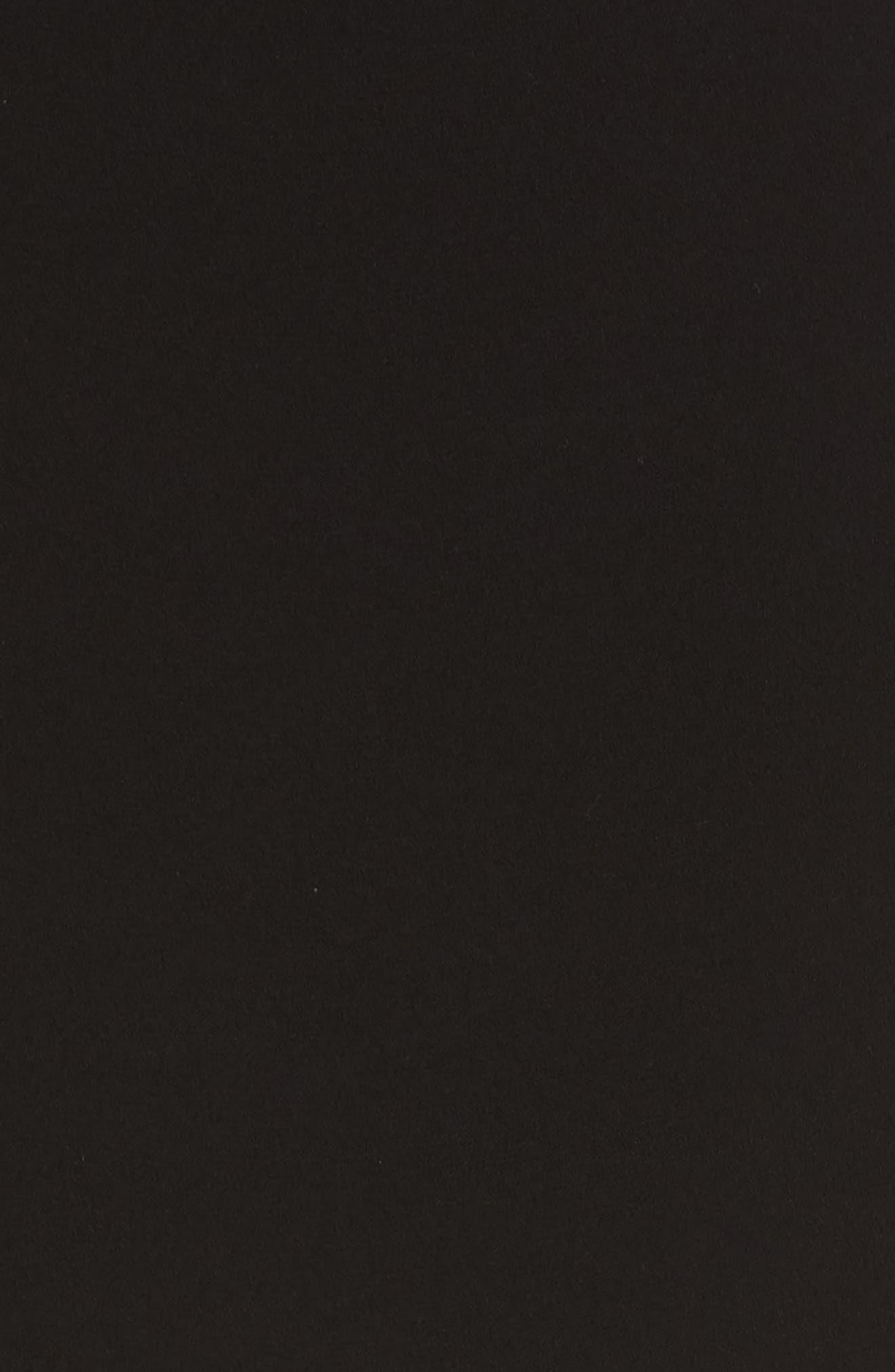 Ekon Fringe Hem Dress,                             Alternate thumbnail 5, color,                             Black