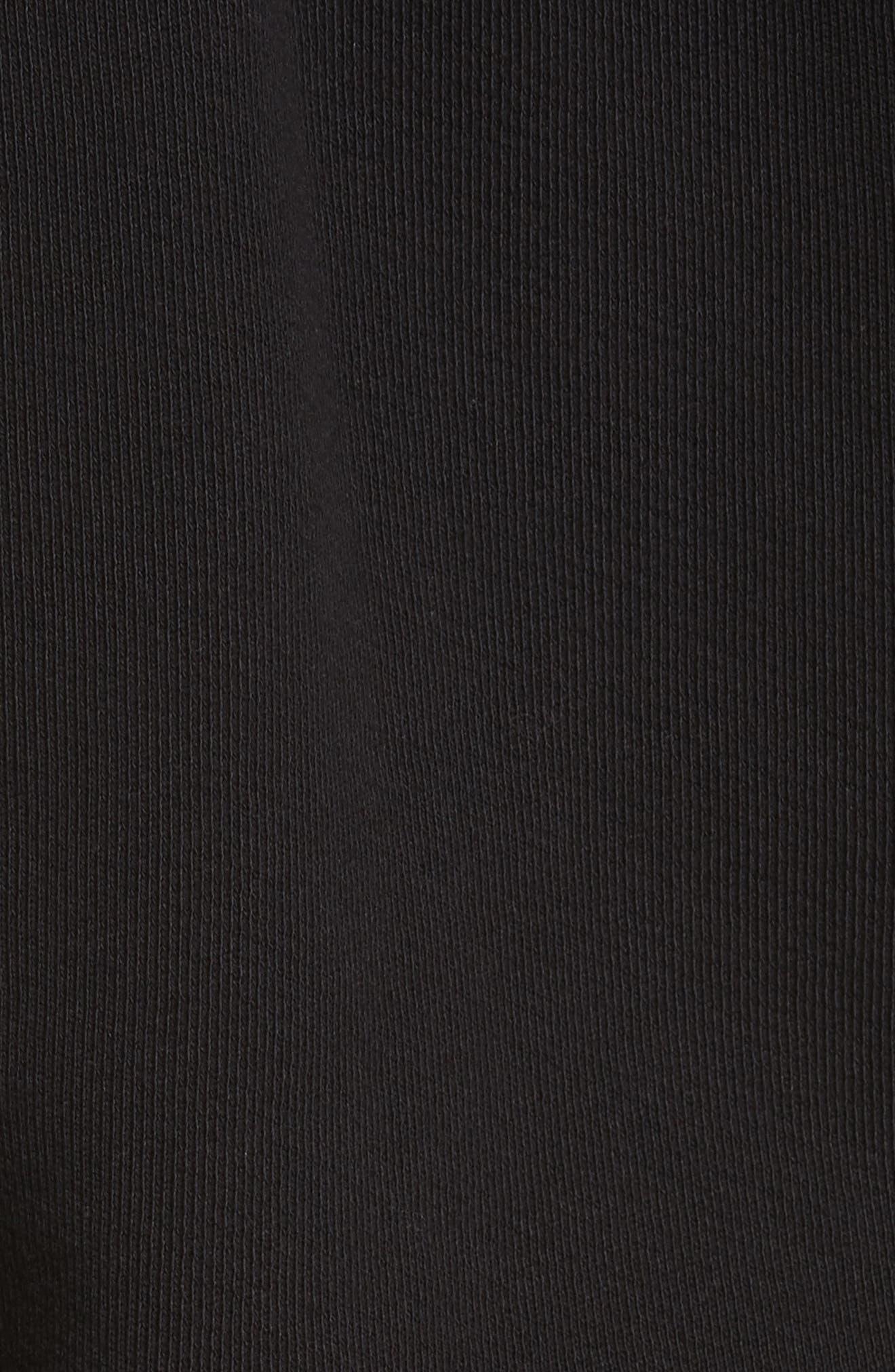 Shrunken Cotton Sweatshirt,                             Alternate thumbnail 5, color,                             Black