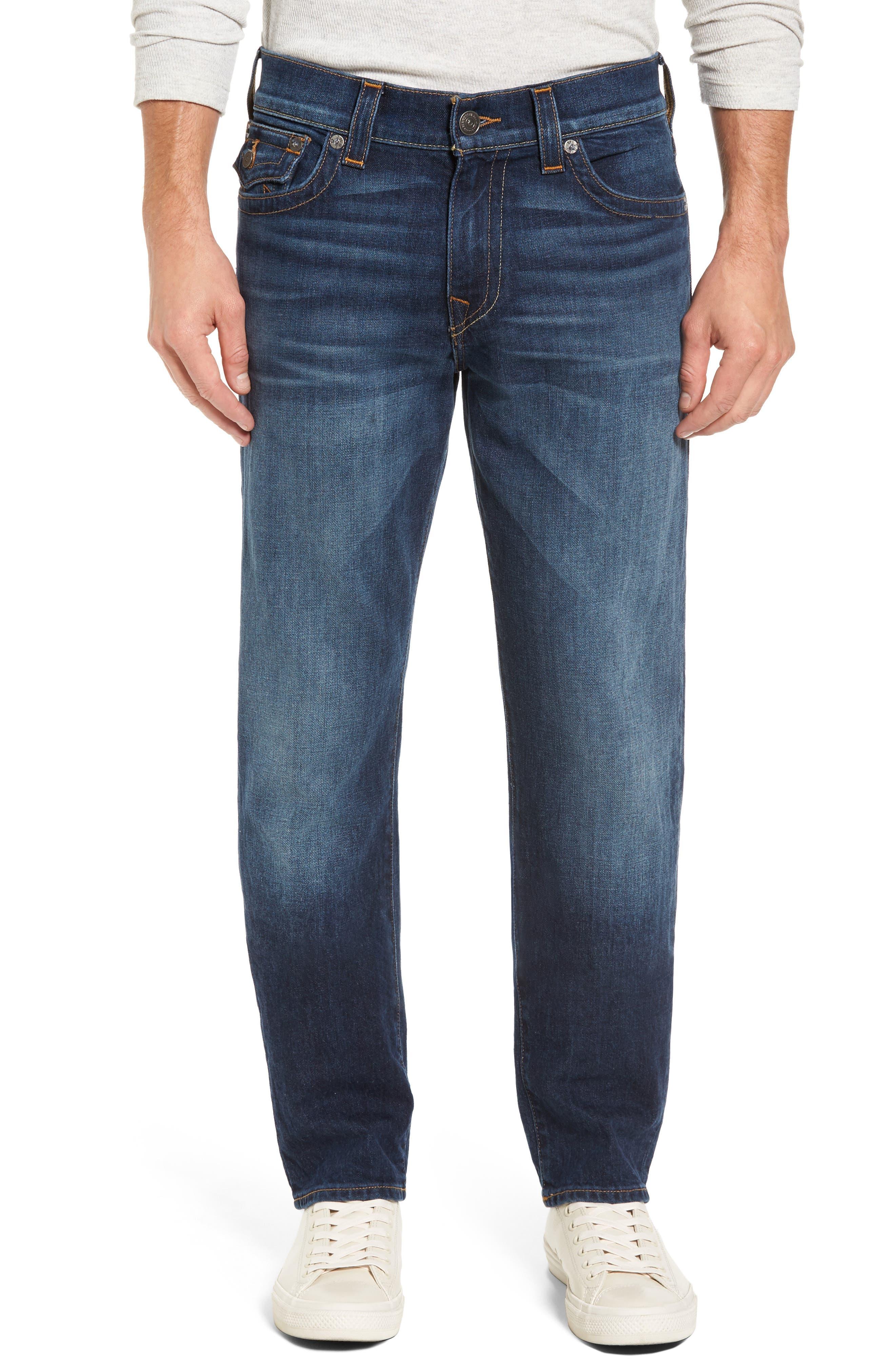 True Religion Brand Jeans Geno Straight Leg Jeans (Blue Cascade)