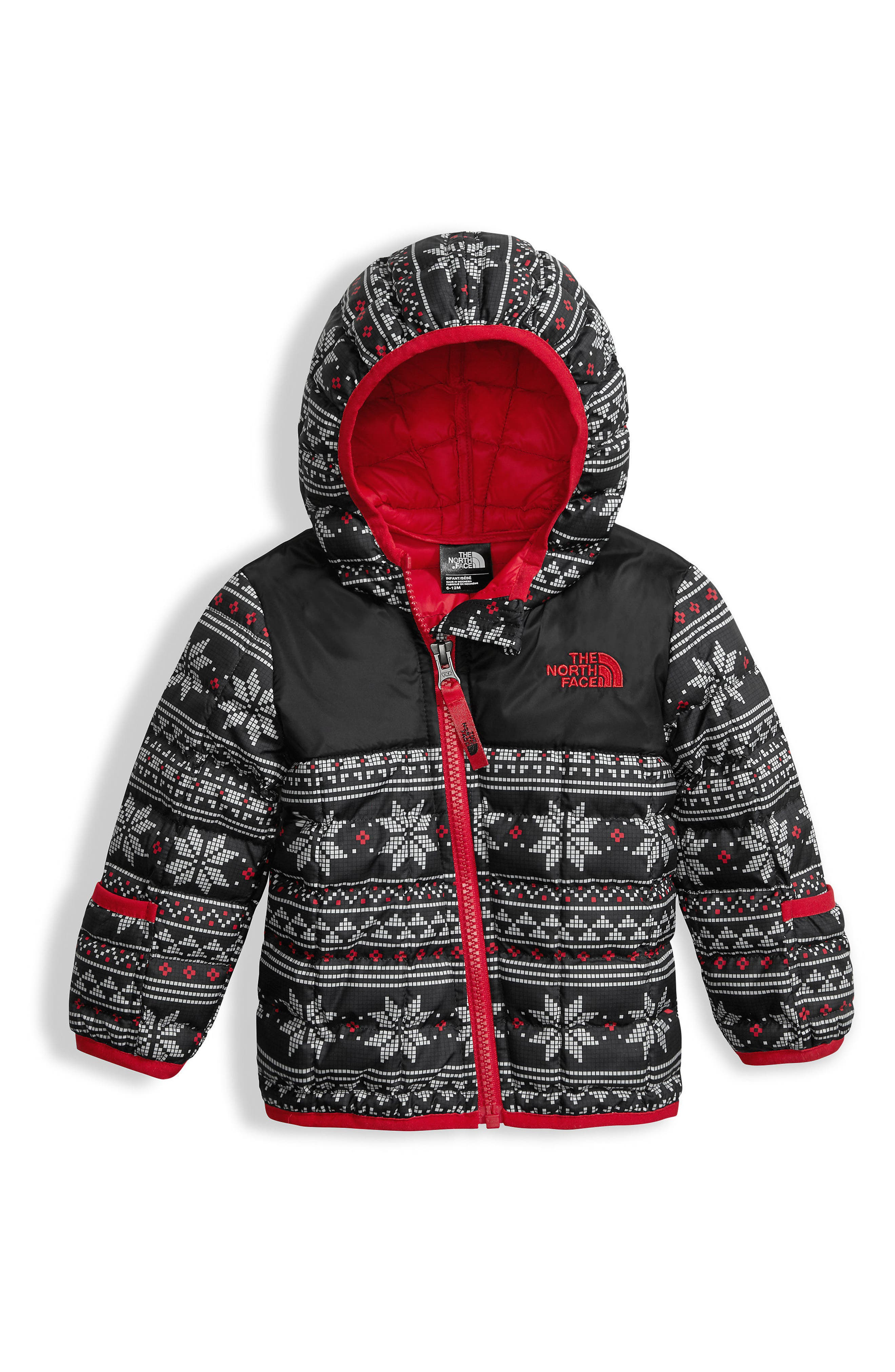 'ThermoBall<sup>™</sup>' PrimaLoft<sup>®</sup> Hooded Jacket,                             Main thumbnail 1, color,                             Tnf White/ Fair Isle Print