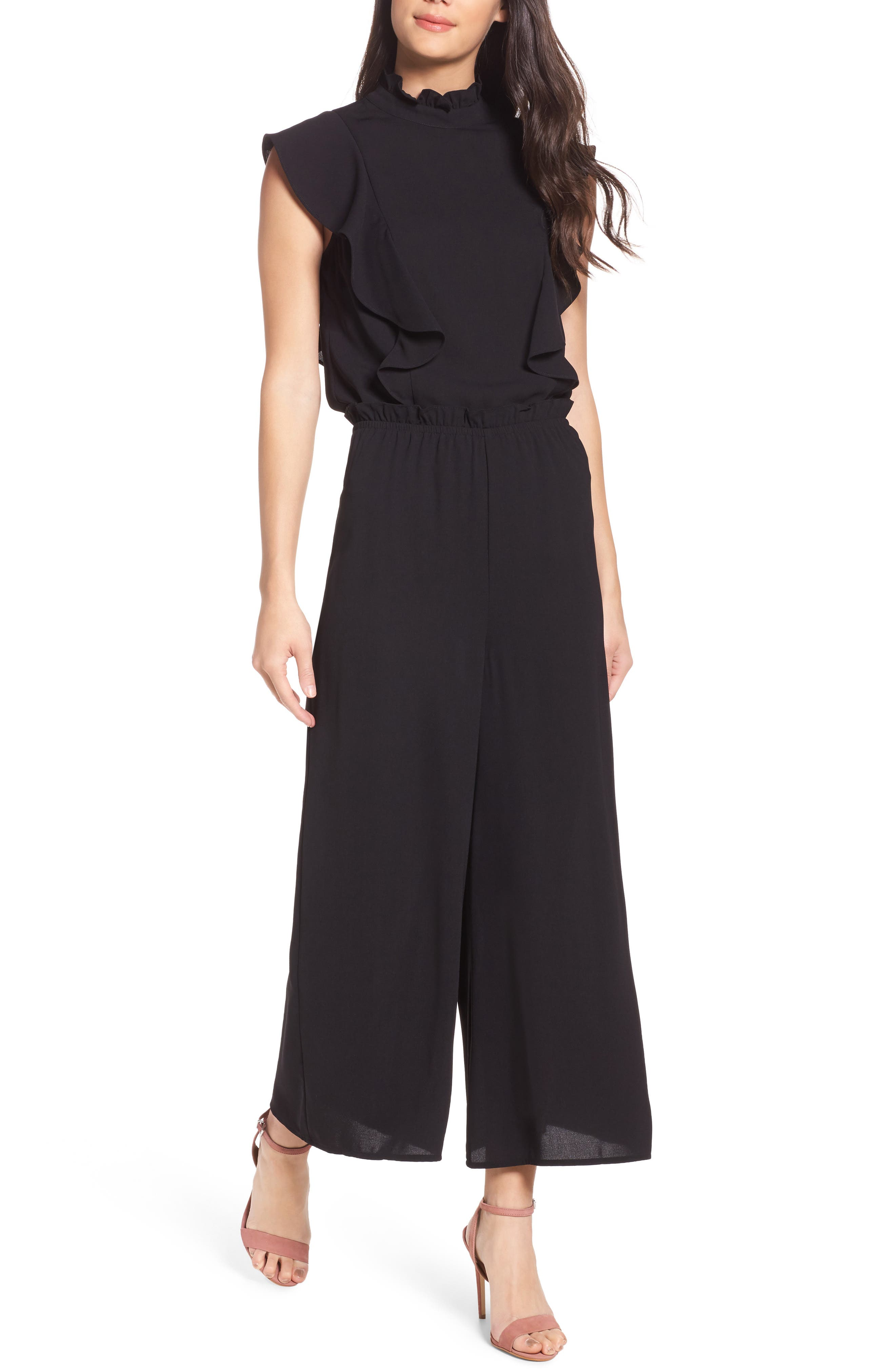 Bianca Two-Piece Jumpsuit,                         Main,                         color, Black