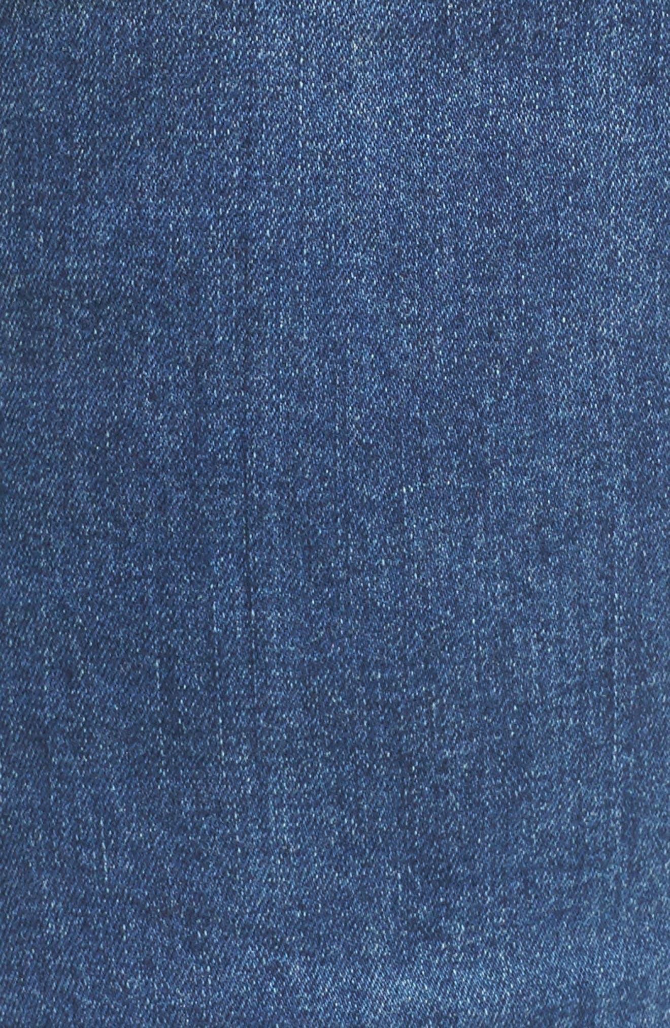 Alternate Image 5  - Seven7 Distressed Slim Raw Hem Cuffed Jeans (Concorde) (Plus Size)