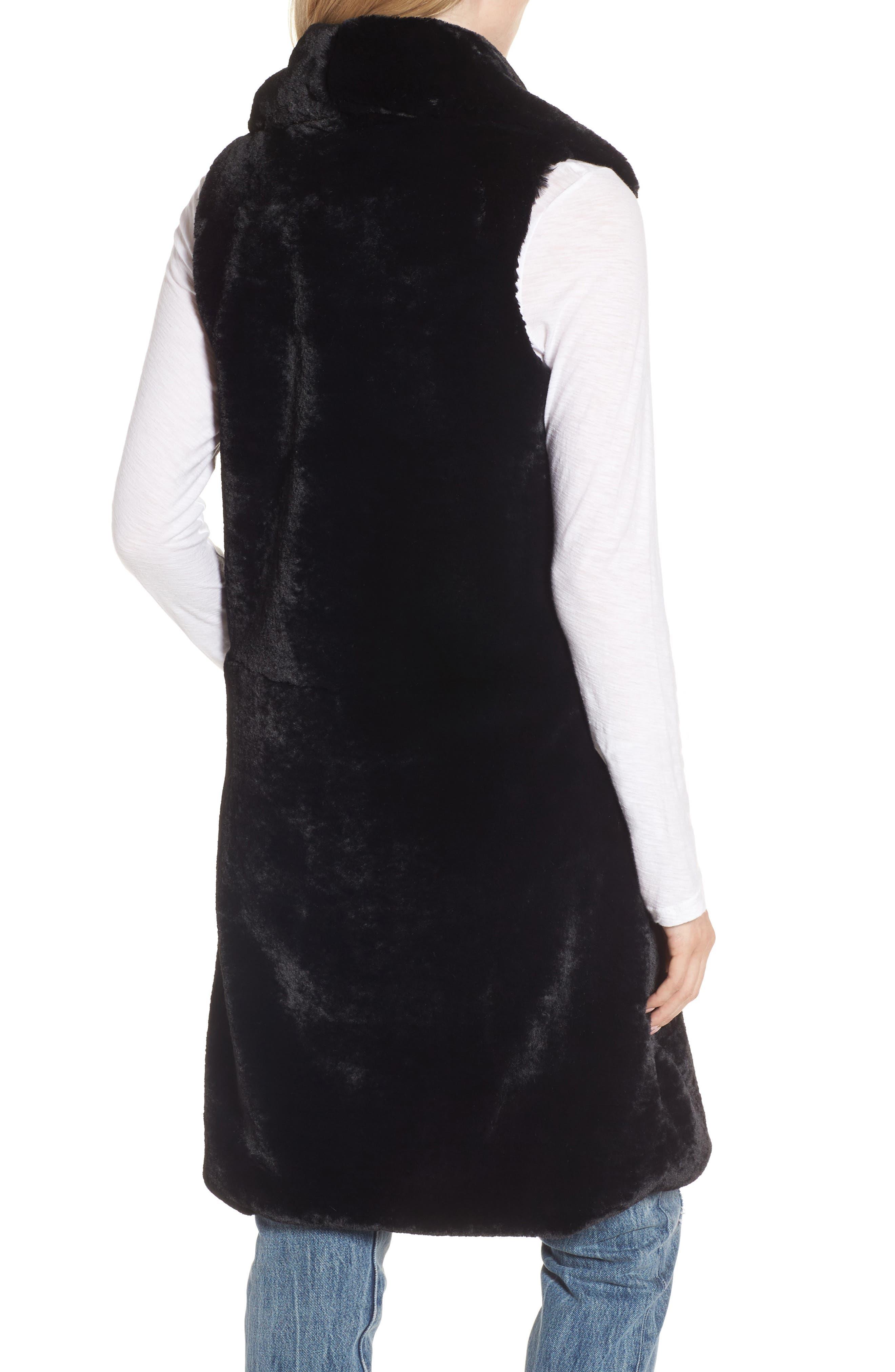 Alternate Image 2  - Heurueh Heather Faux Mink Fur Vest