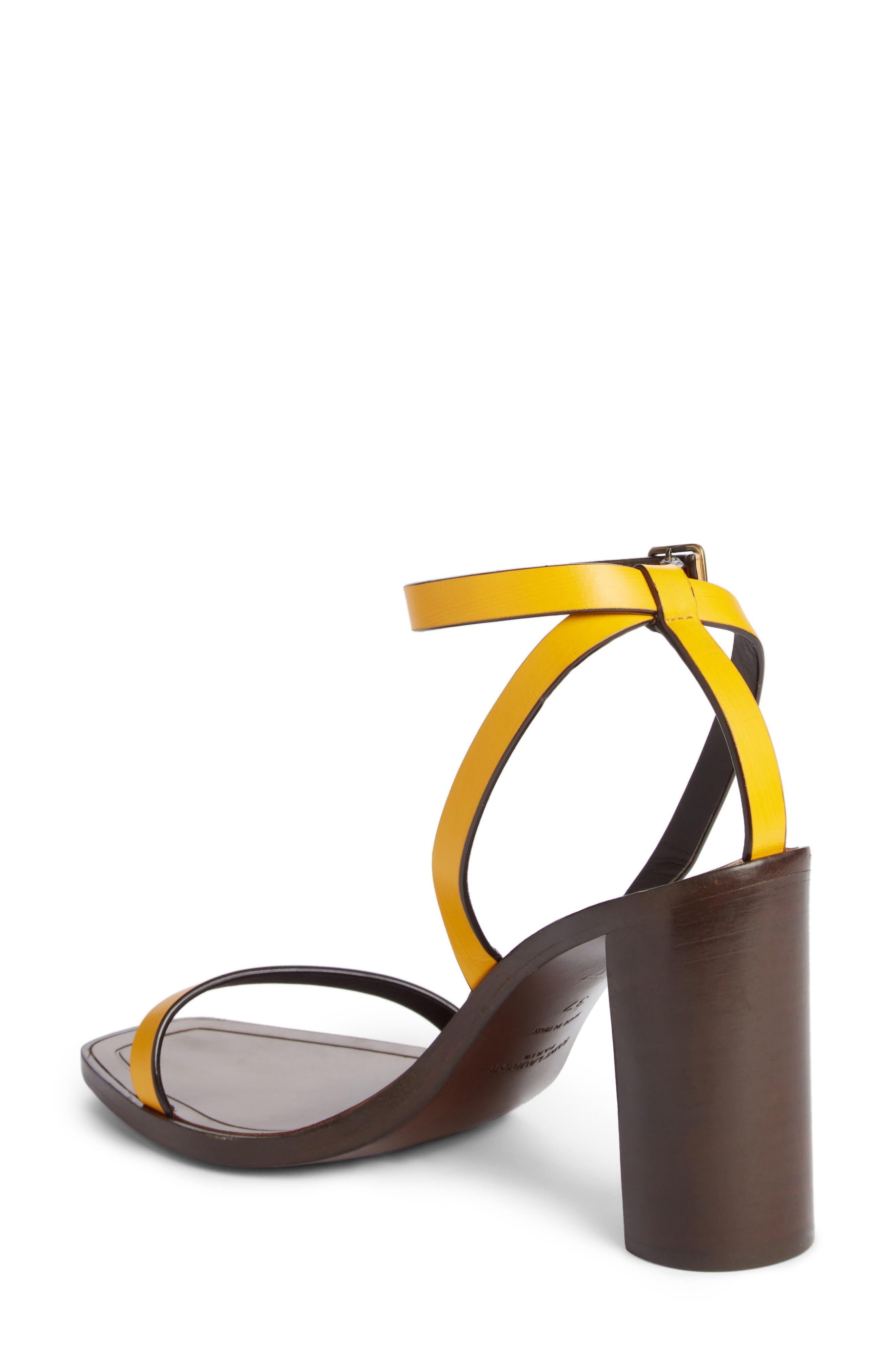 Loulou Ankle Strap Sandal,                             Alternate thumbnail 2, color,                             Black/ Yellow