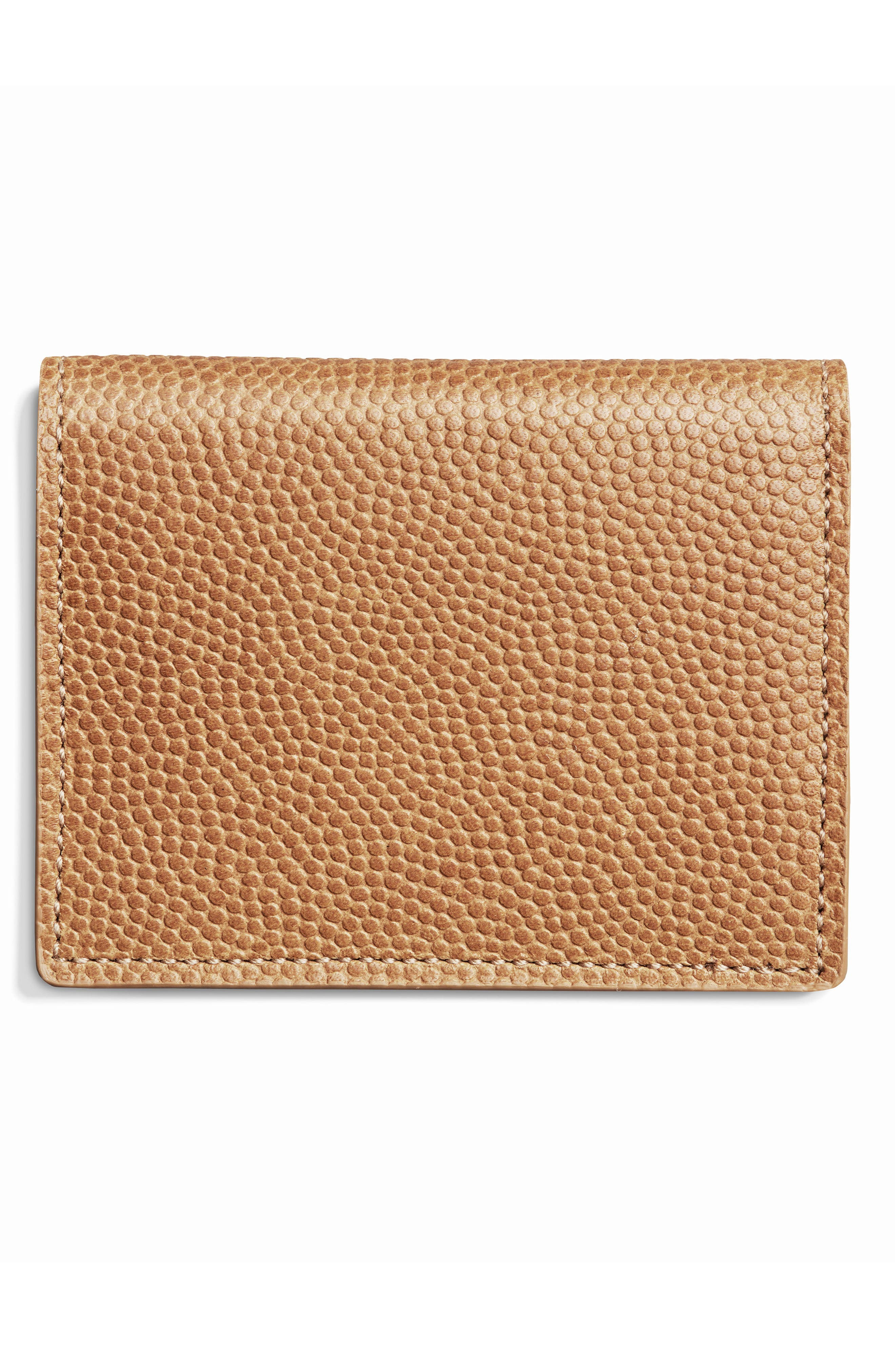 Leather Wallet,                             Alternate thumbnail 3, color,                             Camel