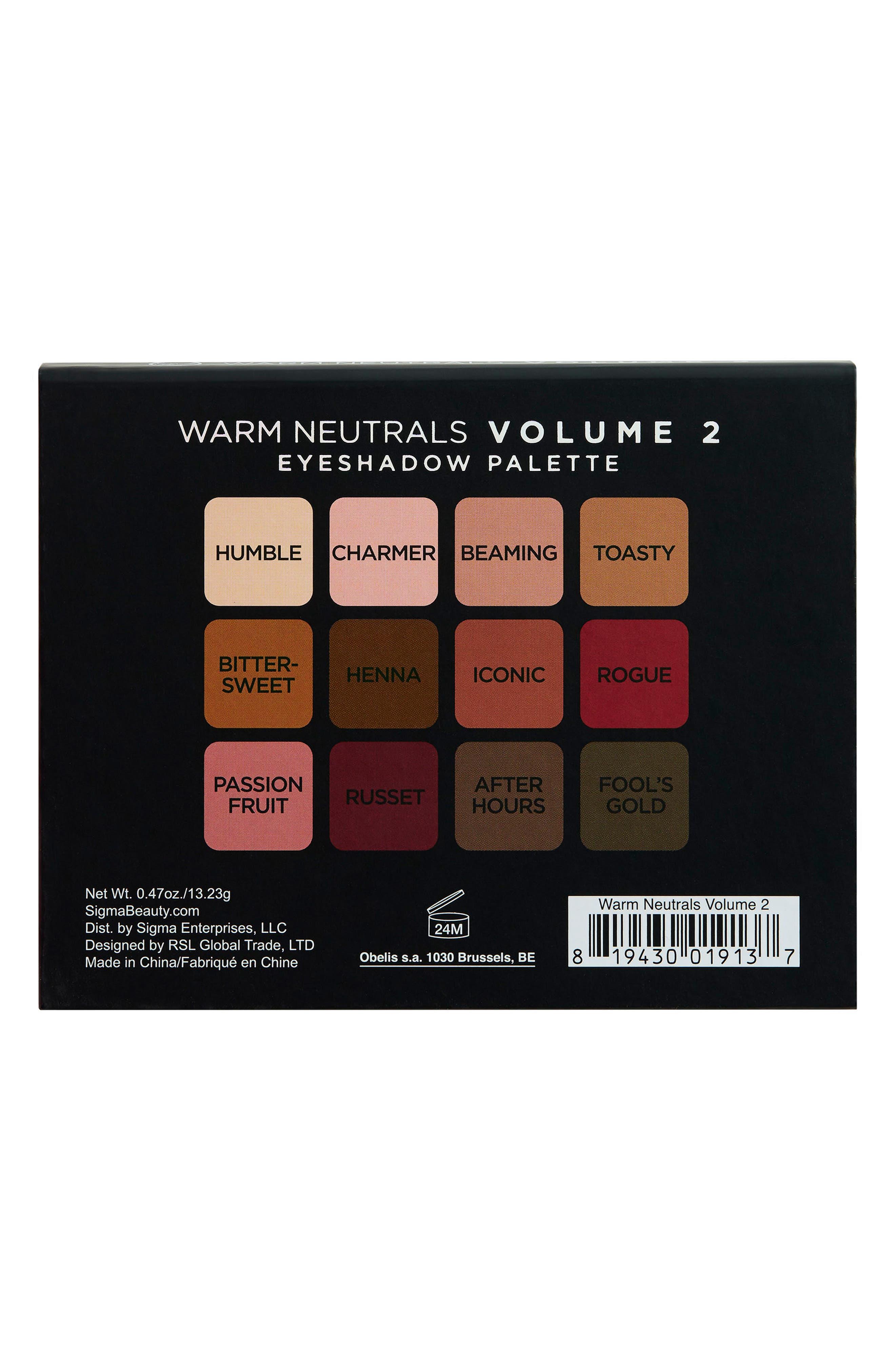 Alternate Image 2  - Sigma Beauty Warm Neutrals Volume 2 Palette
