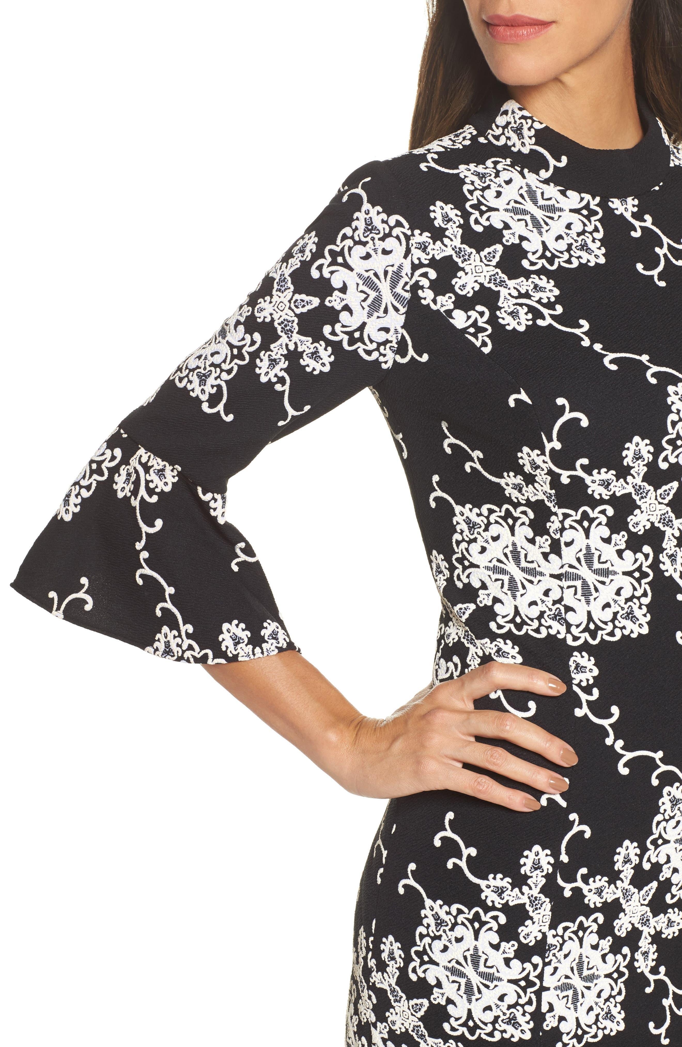 Alternate Image 4  - Adrianna Papell Flare Sleeve Sheath Dress